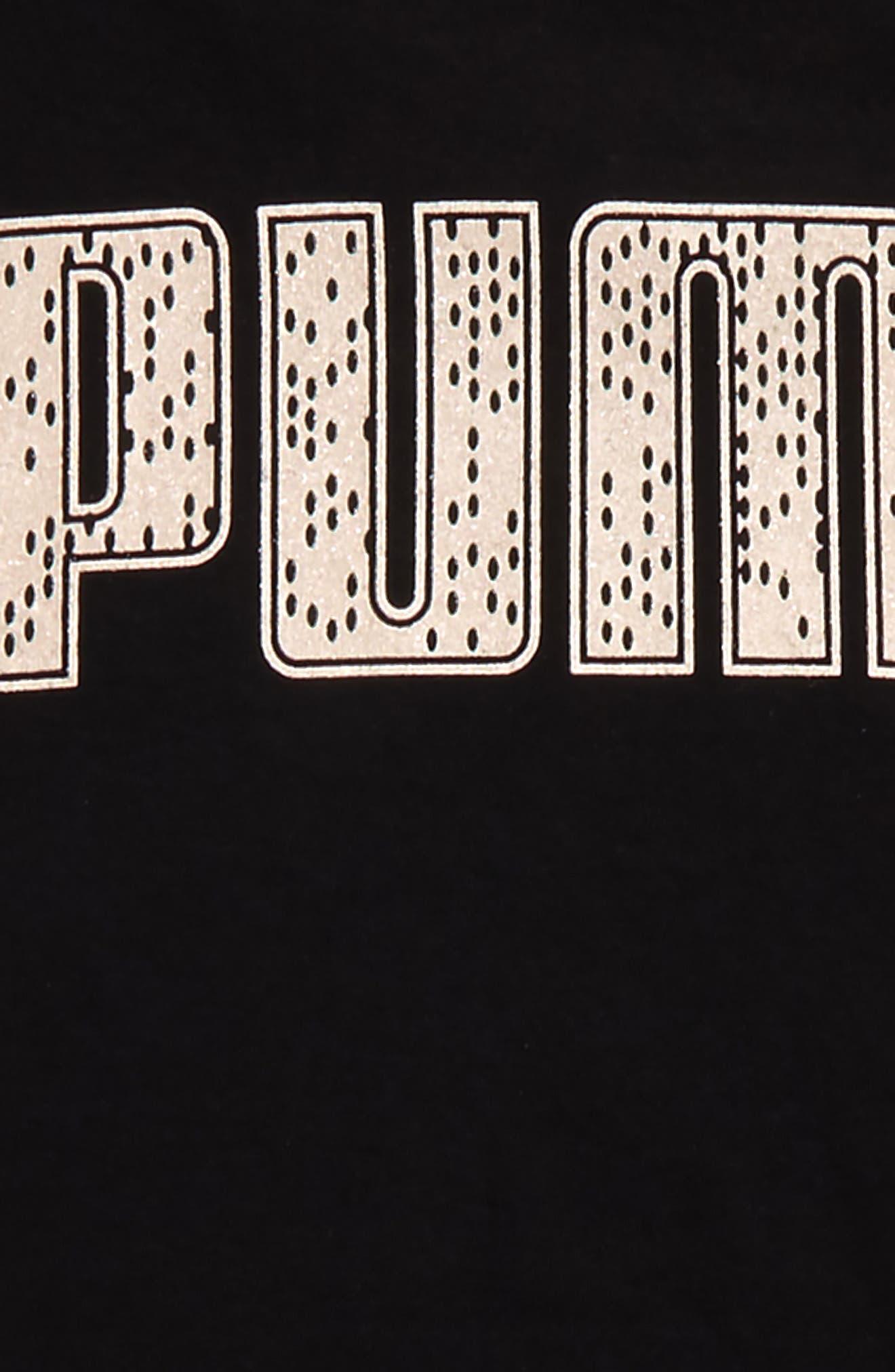 Logo T-Shirt Dress,                             Alternate thumbnail 3, color,                             001