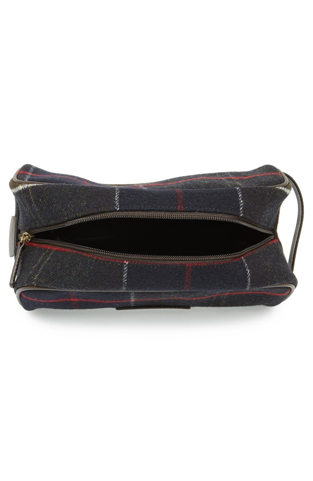Tartan Dopp Kit,                             Alternate thumbnail 2, color,                             OLIVE/ BLUE/ RED