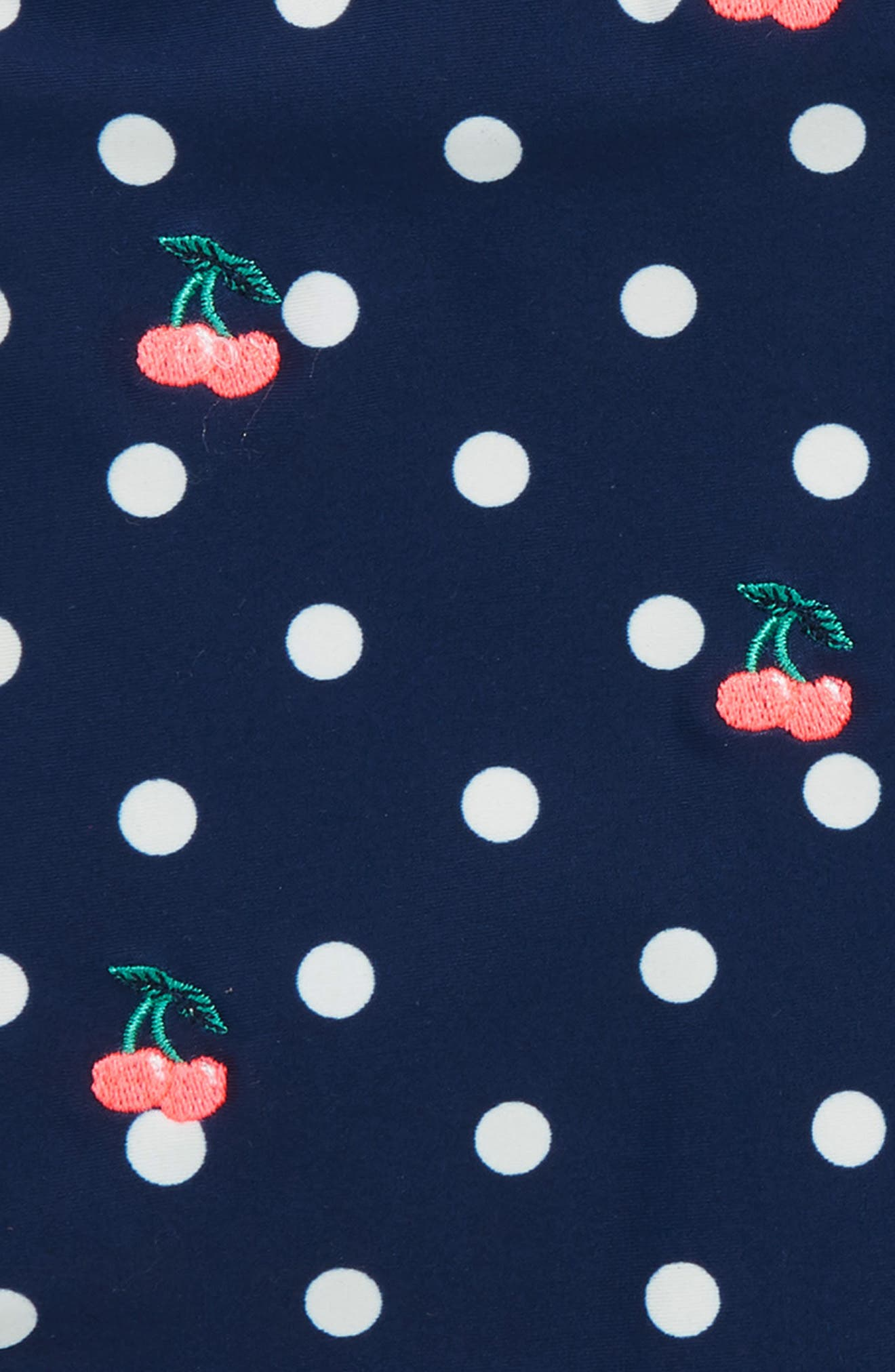 Embroidered Bing Cherry Dot One-Piece Swimsuit,                             Alternate thumbnail 2, color,                             400