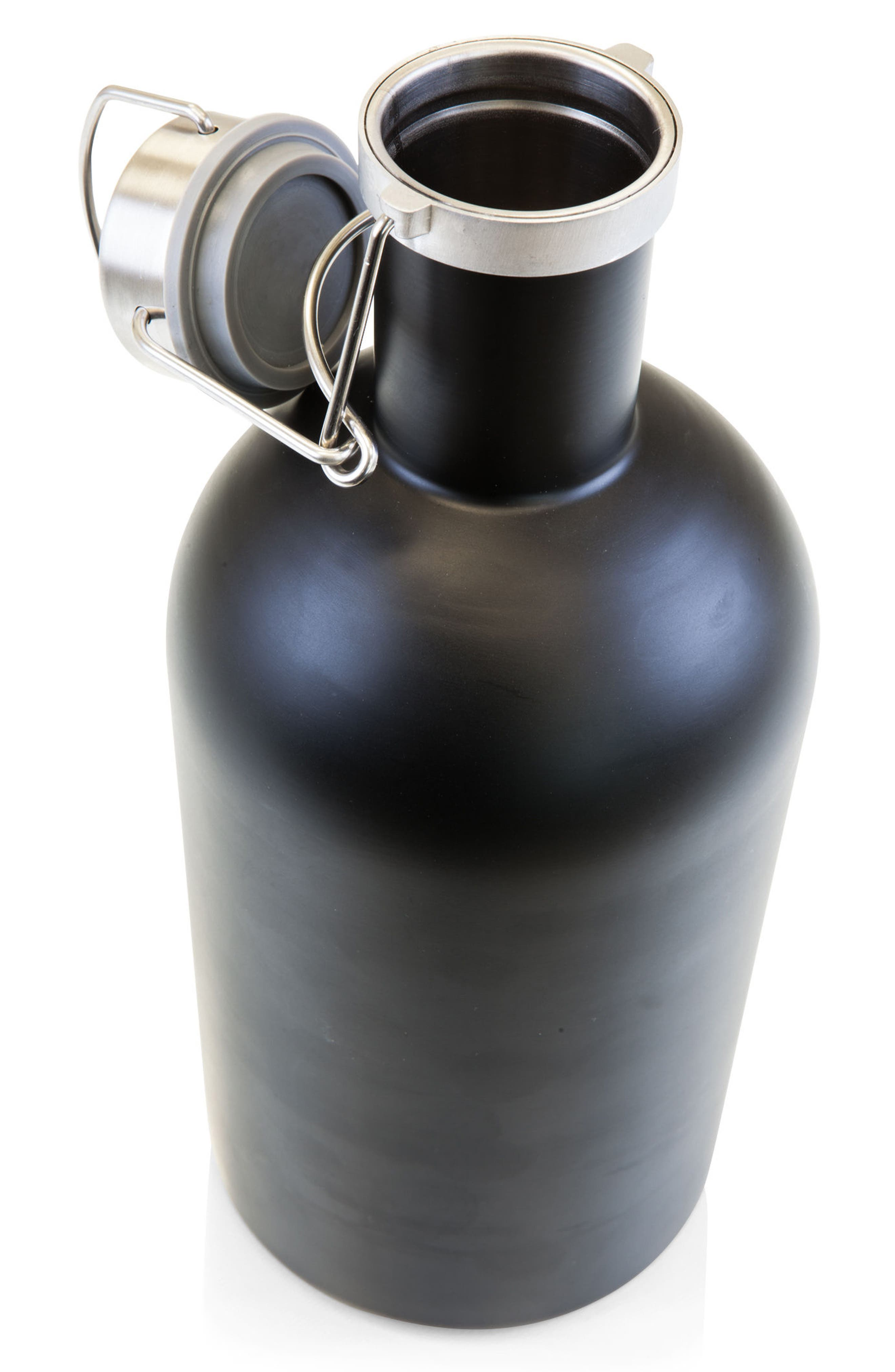 64-Ounce Stainless Steel Growler,                             Alternate thumbnail 2, color,                             BLACK