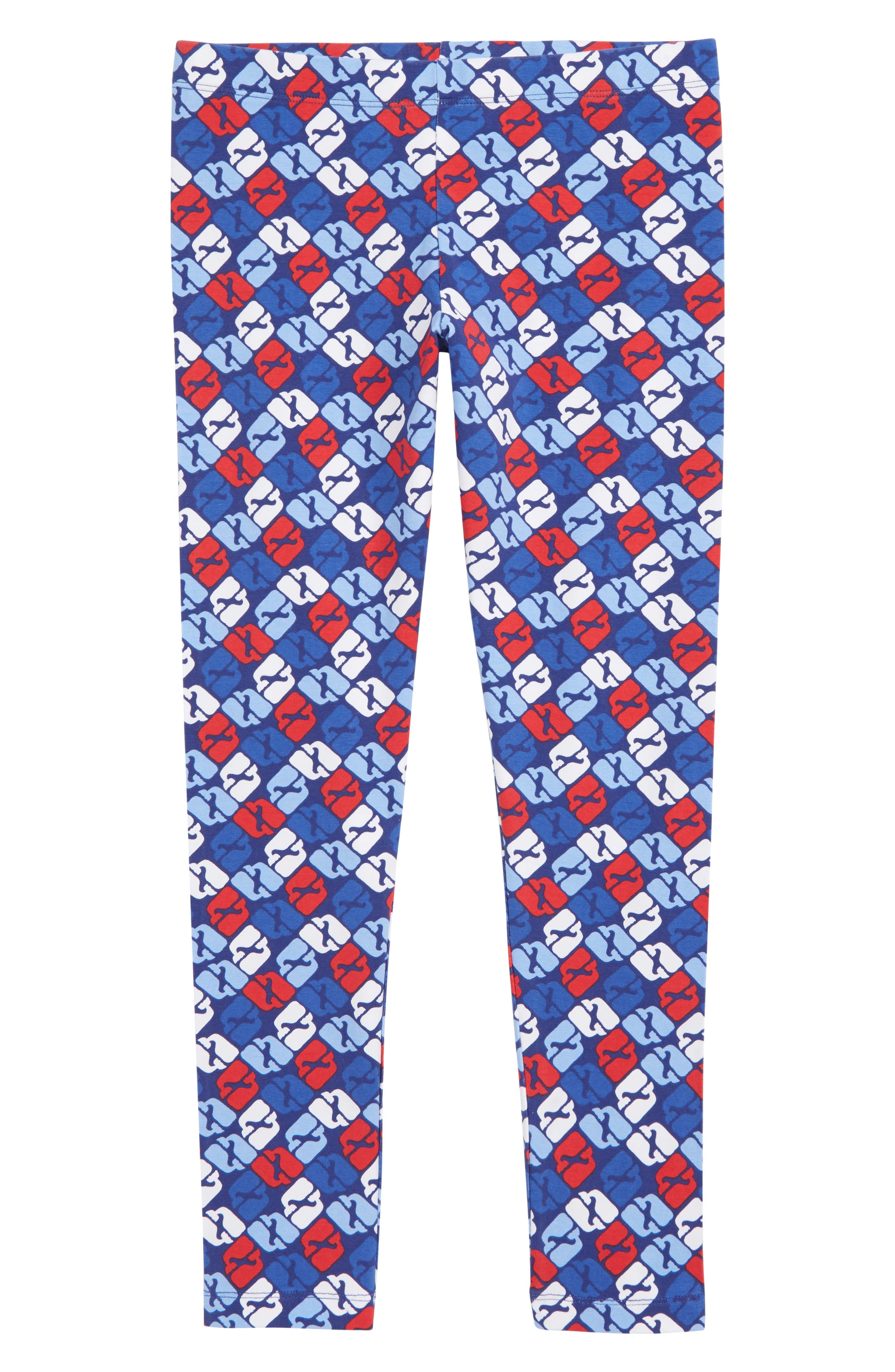 Puzzle Whale Leggings,                             Main thumbnail 1, color,                             COMMODORE
