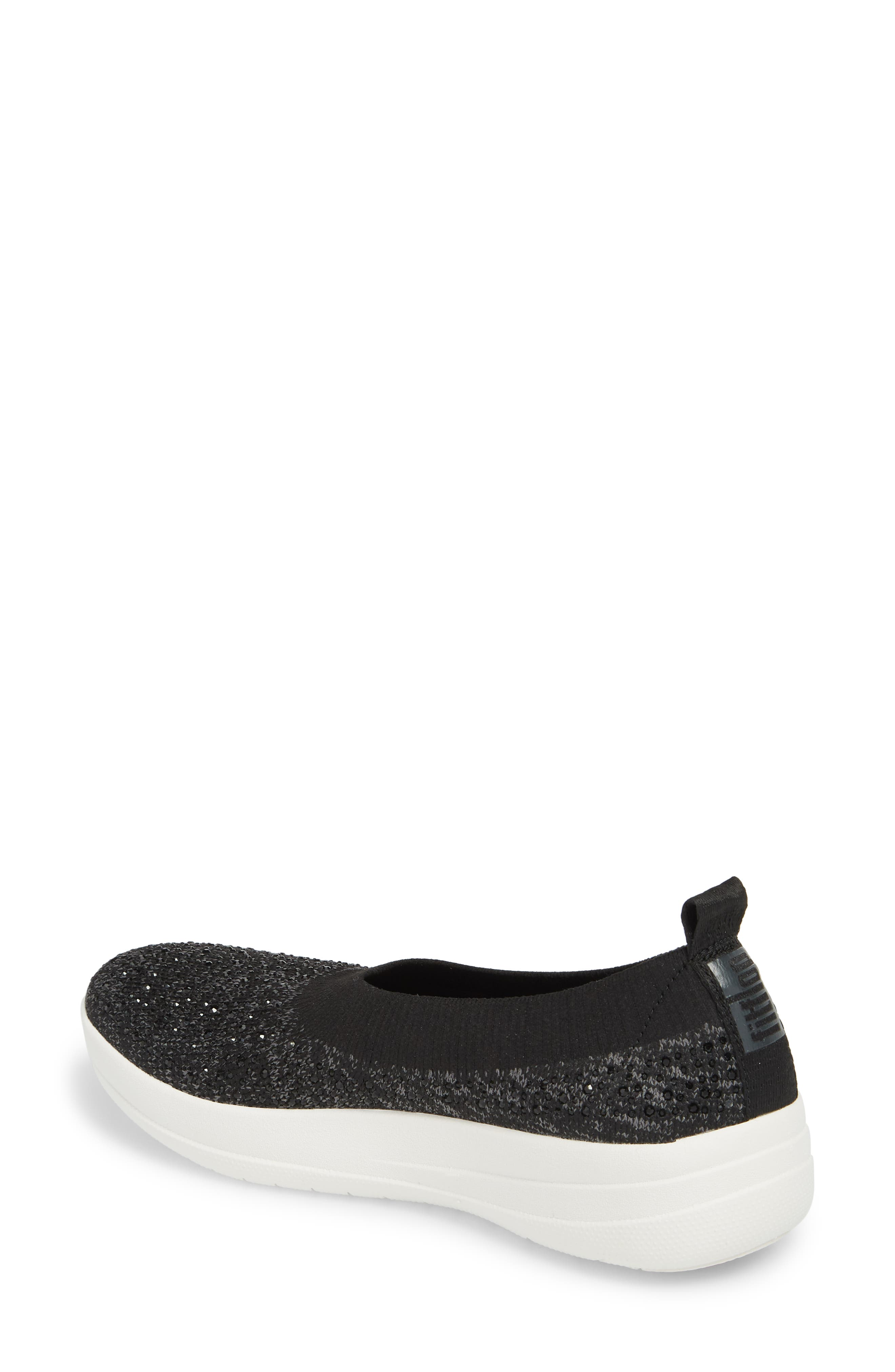 Uberknit Slip-On Sneaker,                             Alternate thumbnail 2, color,                             BLACK/ SOFT GREY