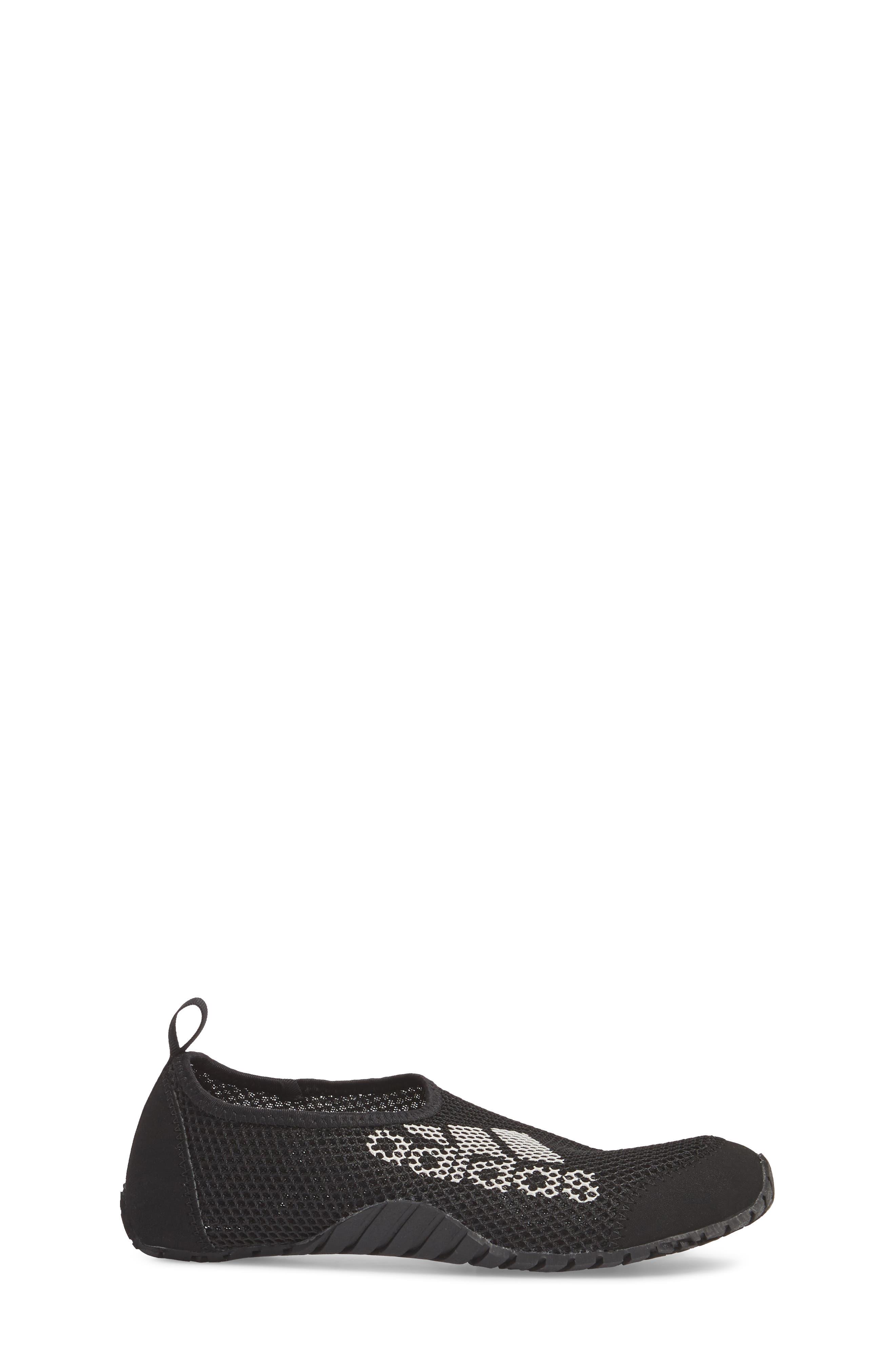 Kurobe Mesh Slip-On Water Shoe,                             Alternate thumbnail 3, color,                             BLACK/ BLACK GREY ONE