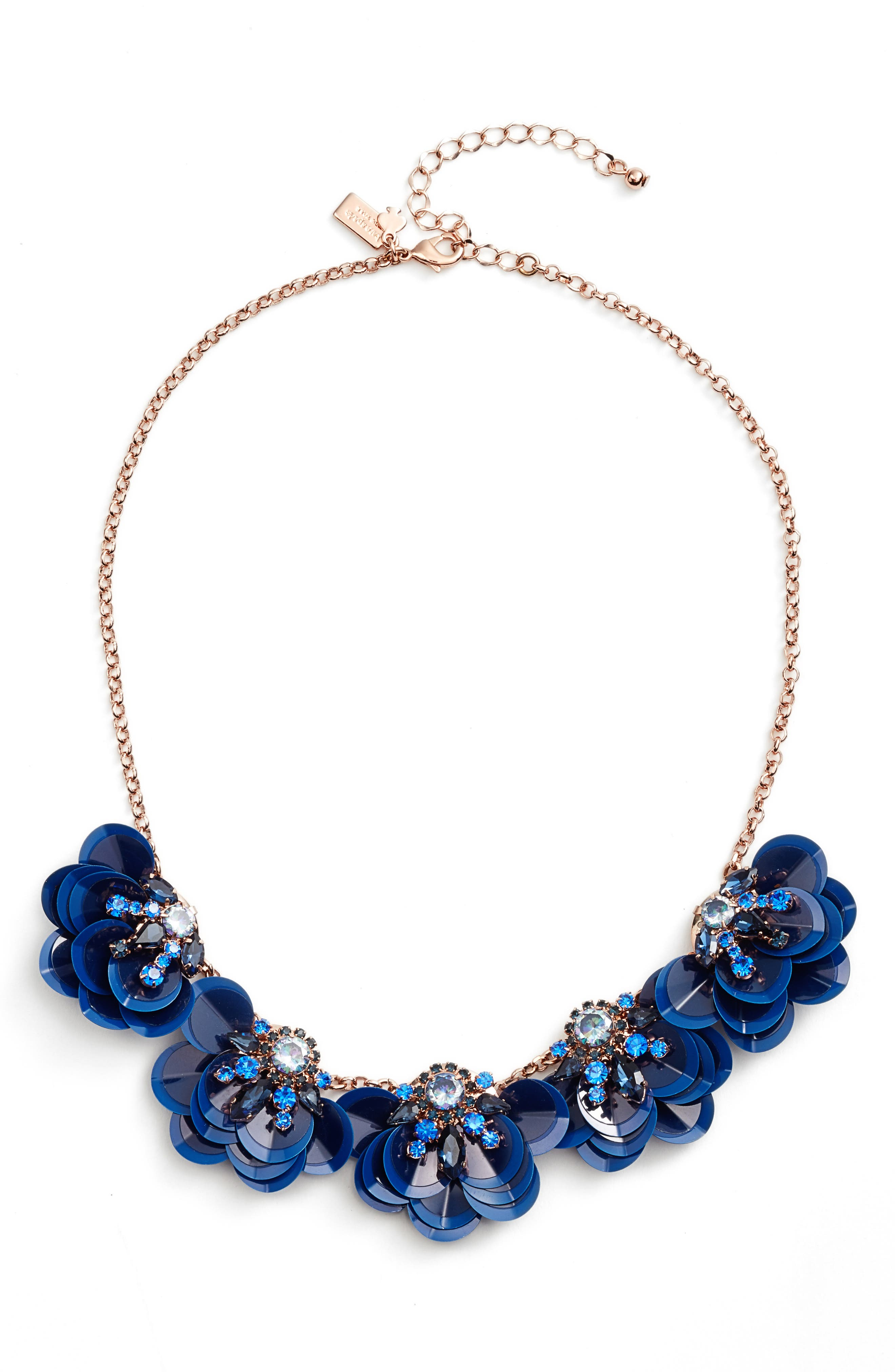 snowy nights sequin necklace,                             Main thumbnail 1, color,