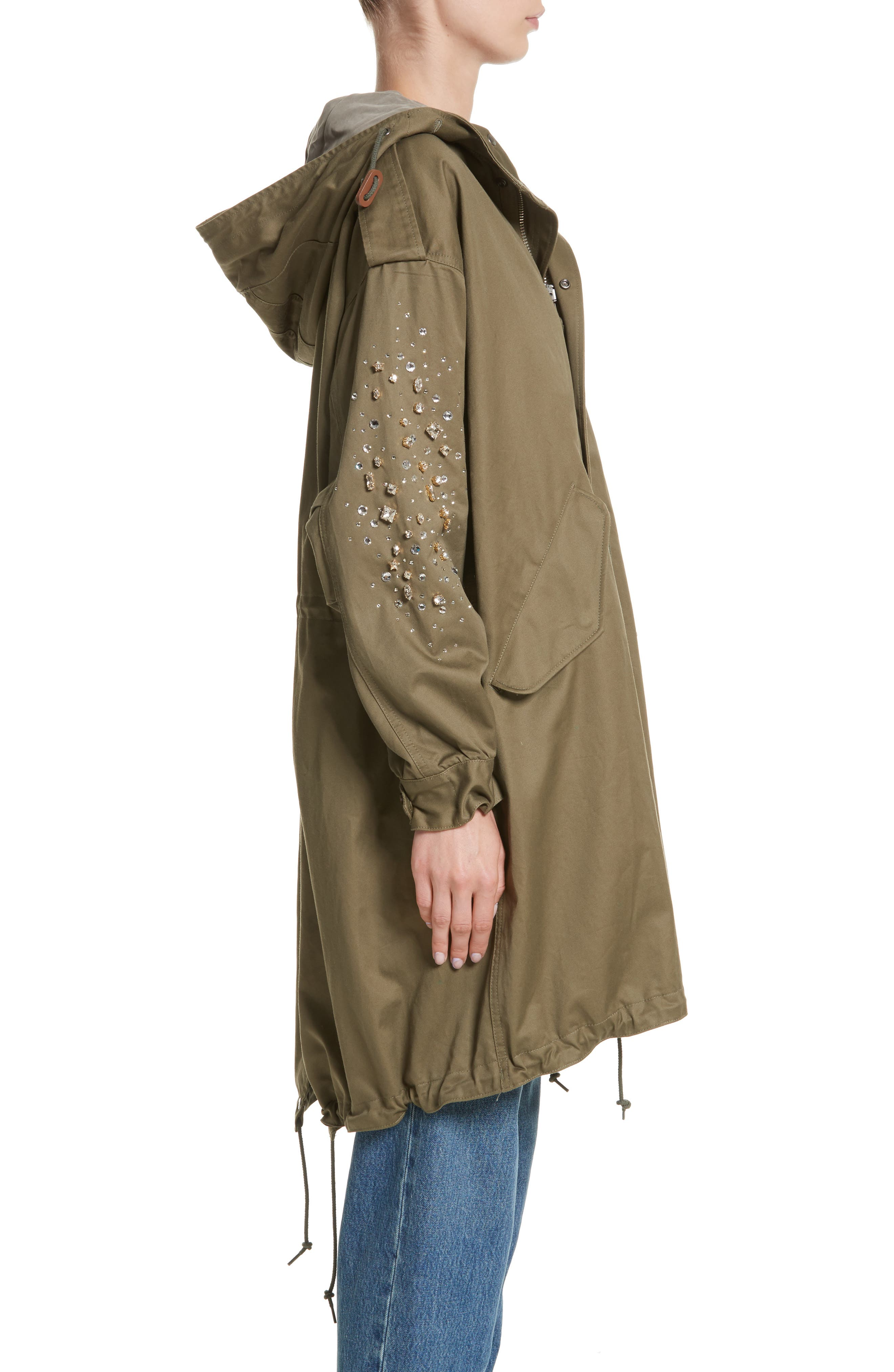 Tu es mon TRESOR Stardust Elbow Parka,                             Alternate thumbnail 3, color,                             KHAKI KHAK