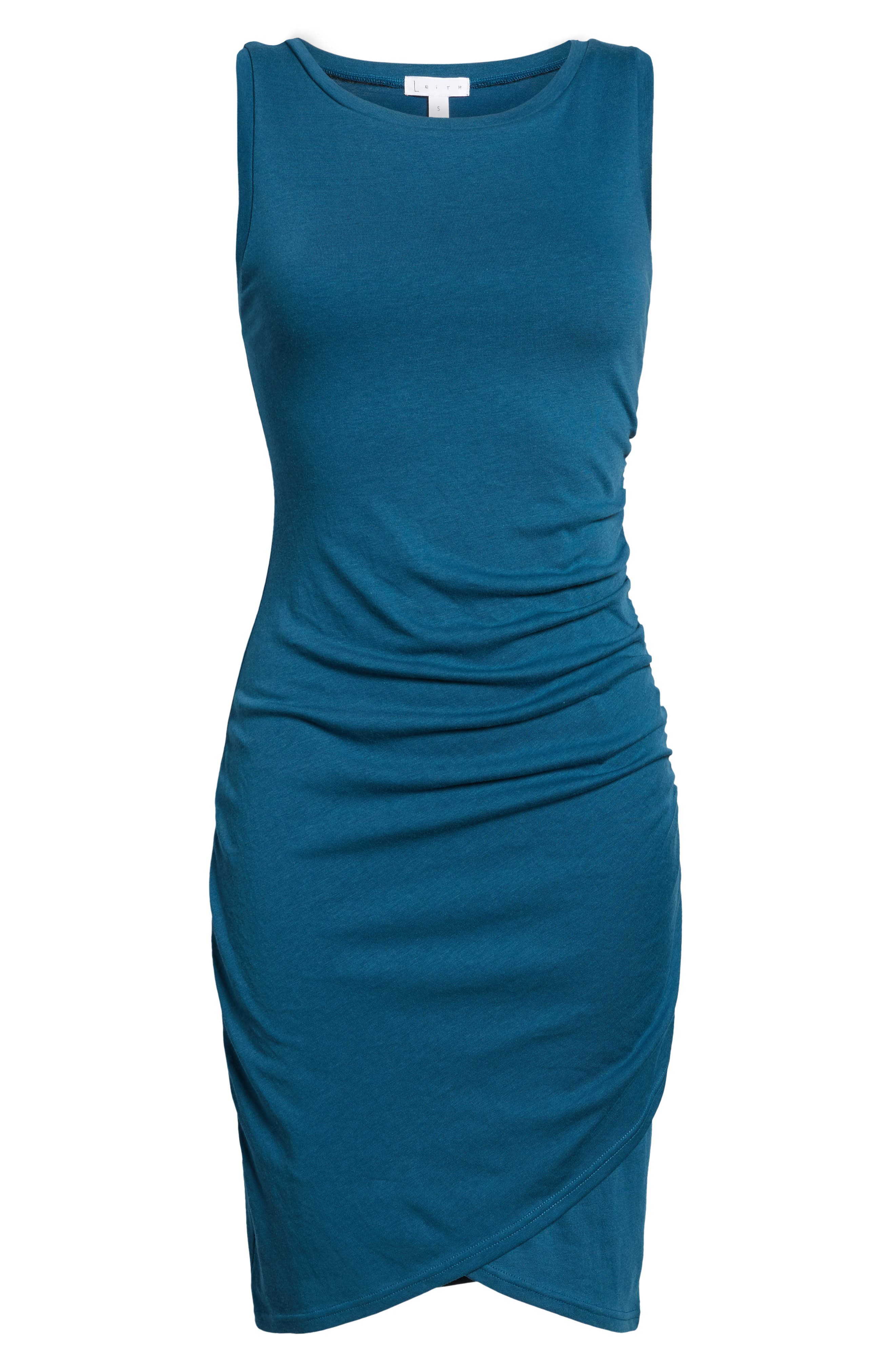 Ruched Body-Con Tank Dress,                             Alternate thumbnail 169, color,