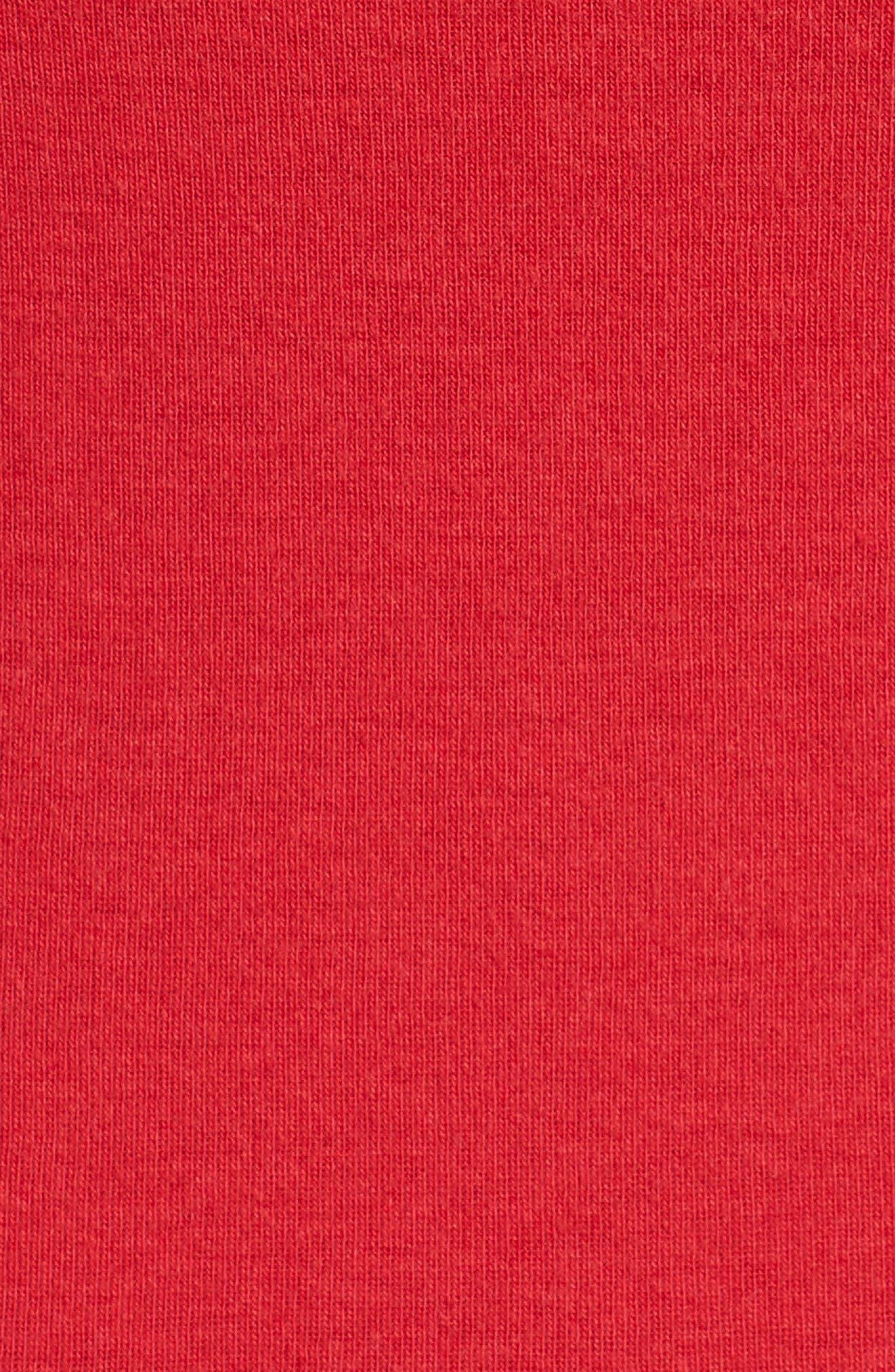 Ballet Neck Cotton & Modal Knit Elbow Sleeve Tee,                             Alternate thumbnail 228, color,