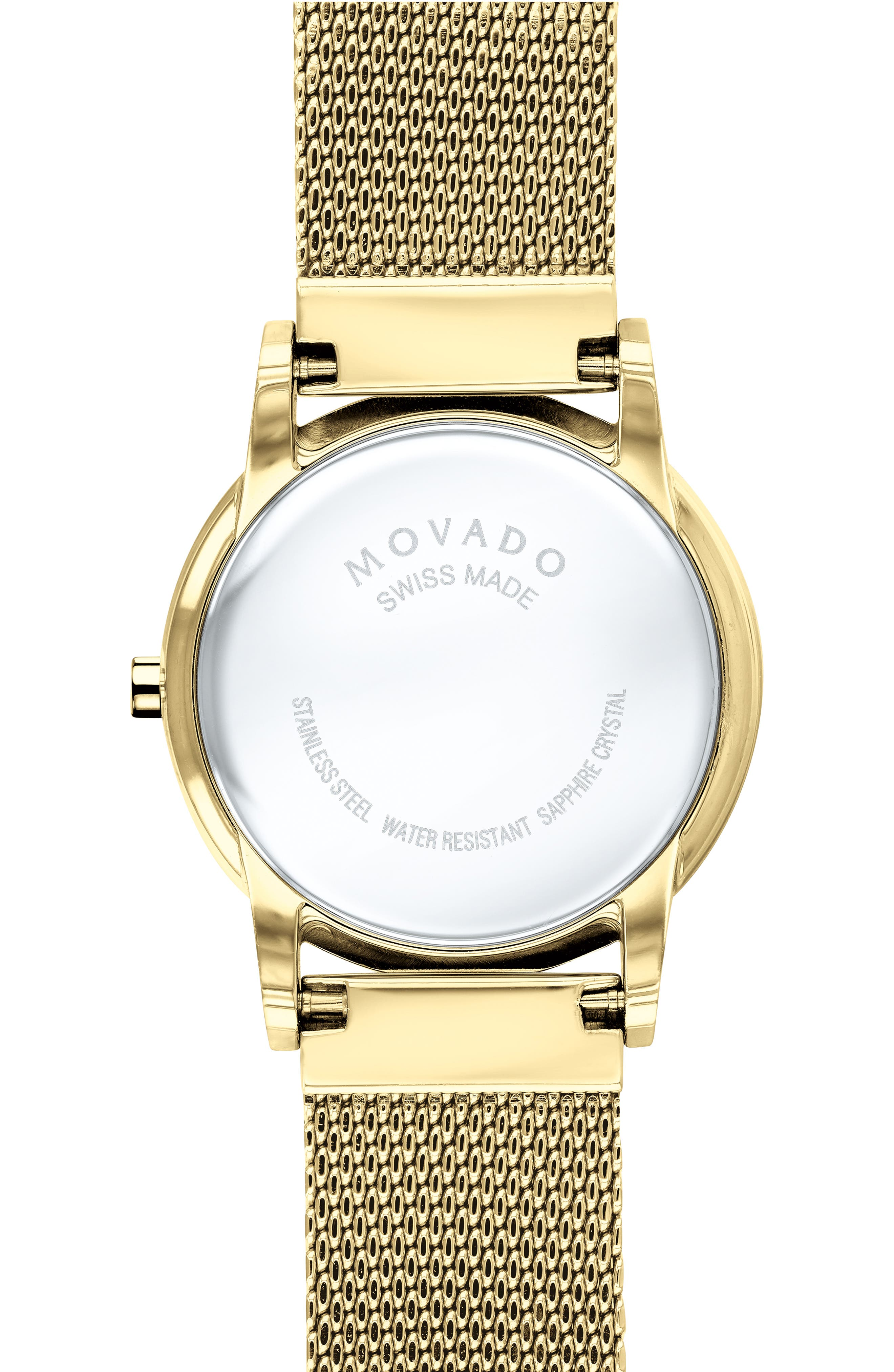 Museum Mesh Strap Watch, 28mm,                             Alternate thumbnail 2, color,                             GOLD/ WHITE MOP/ GOLD