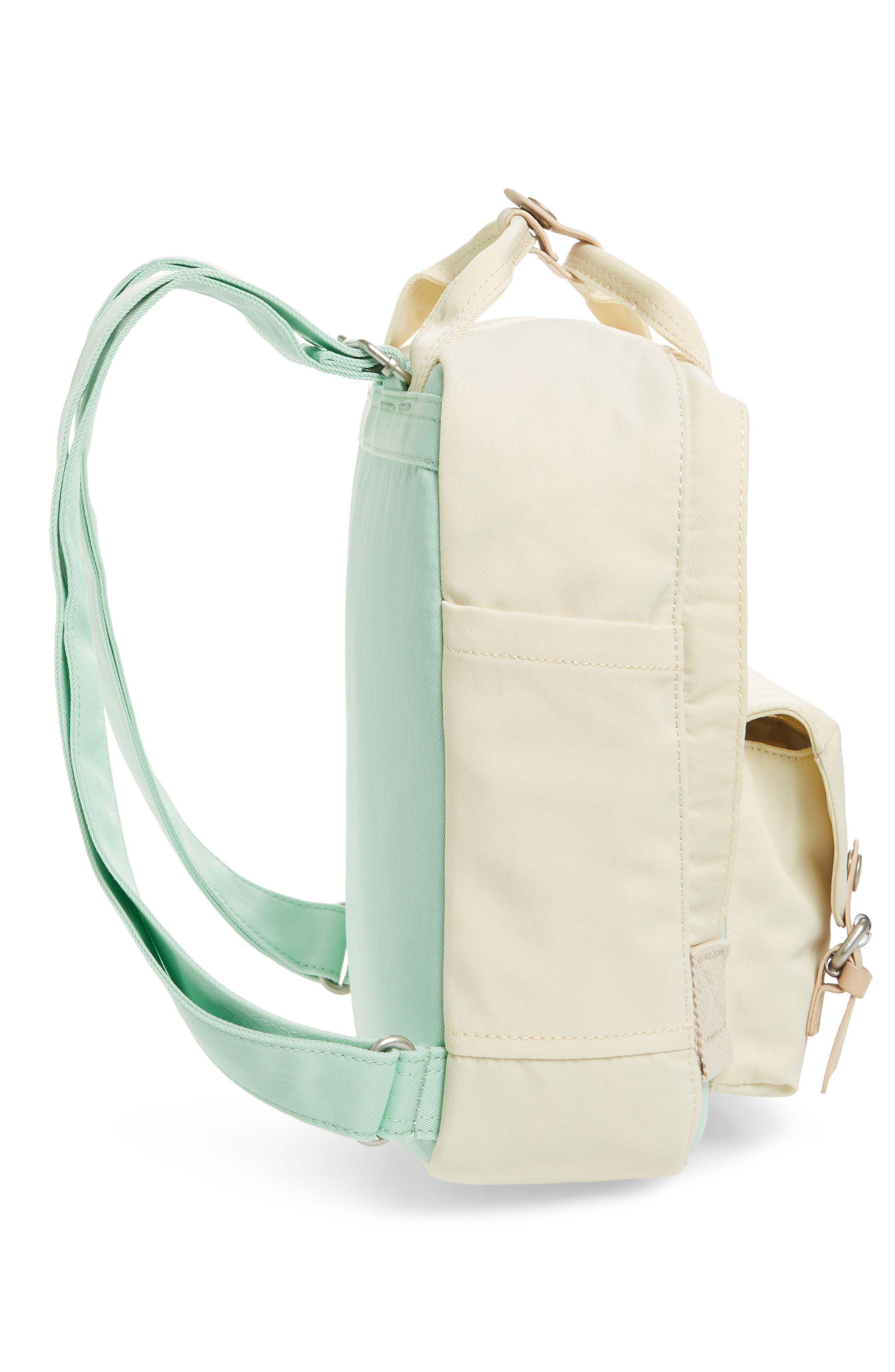 Mini Macaroon Colorblock Water Resistant Backpack,                             Alternate thumbnail 5, color,                             SODA/ CREAM