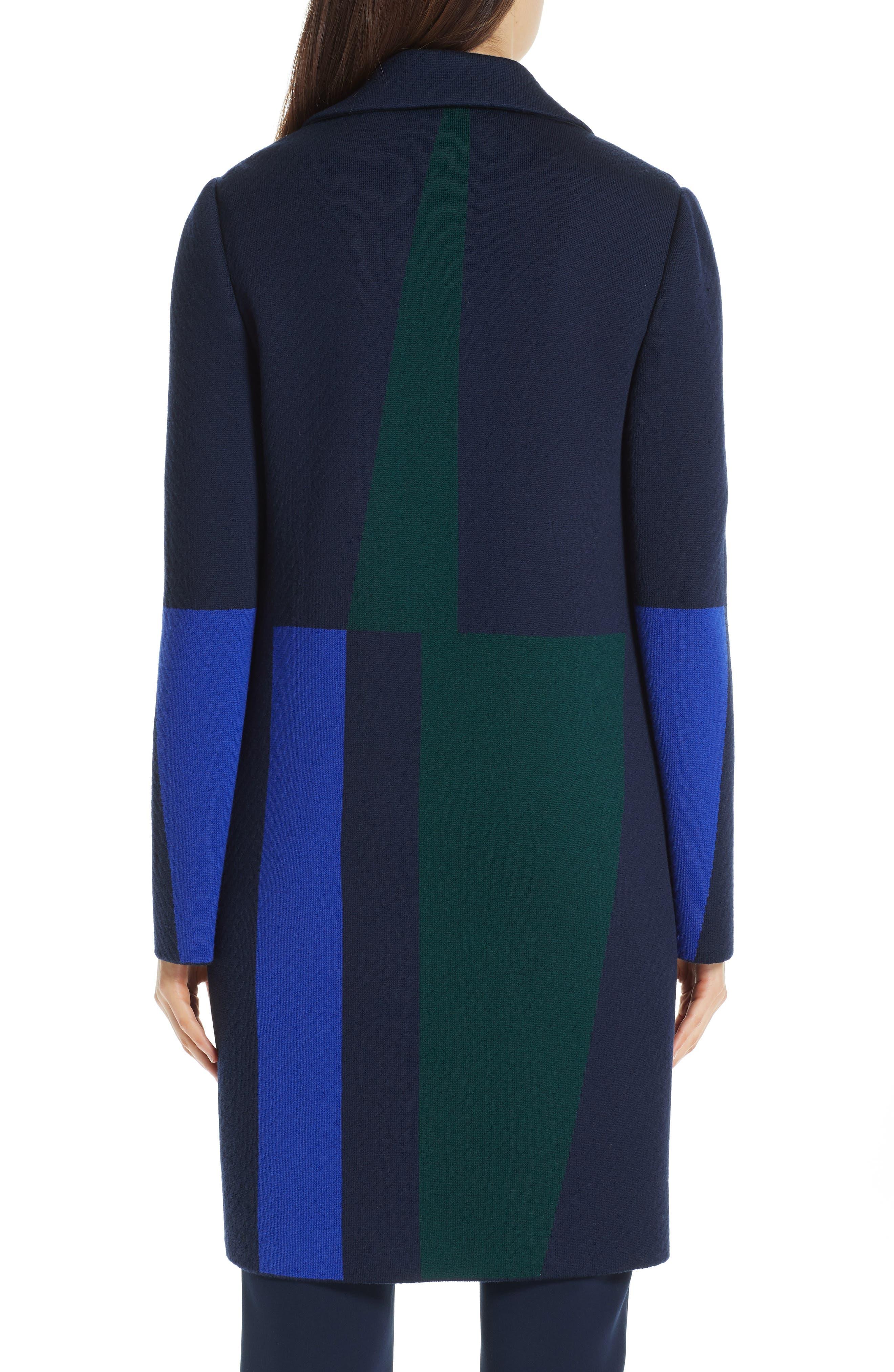 Colorblock Intarsia Wool Twill Jacket,                             Alternate thumbnail 2, color,                             NAVY MULTI