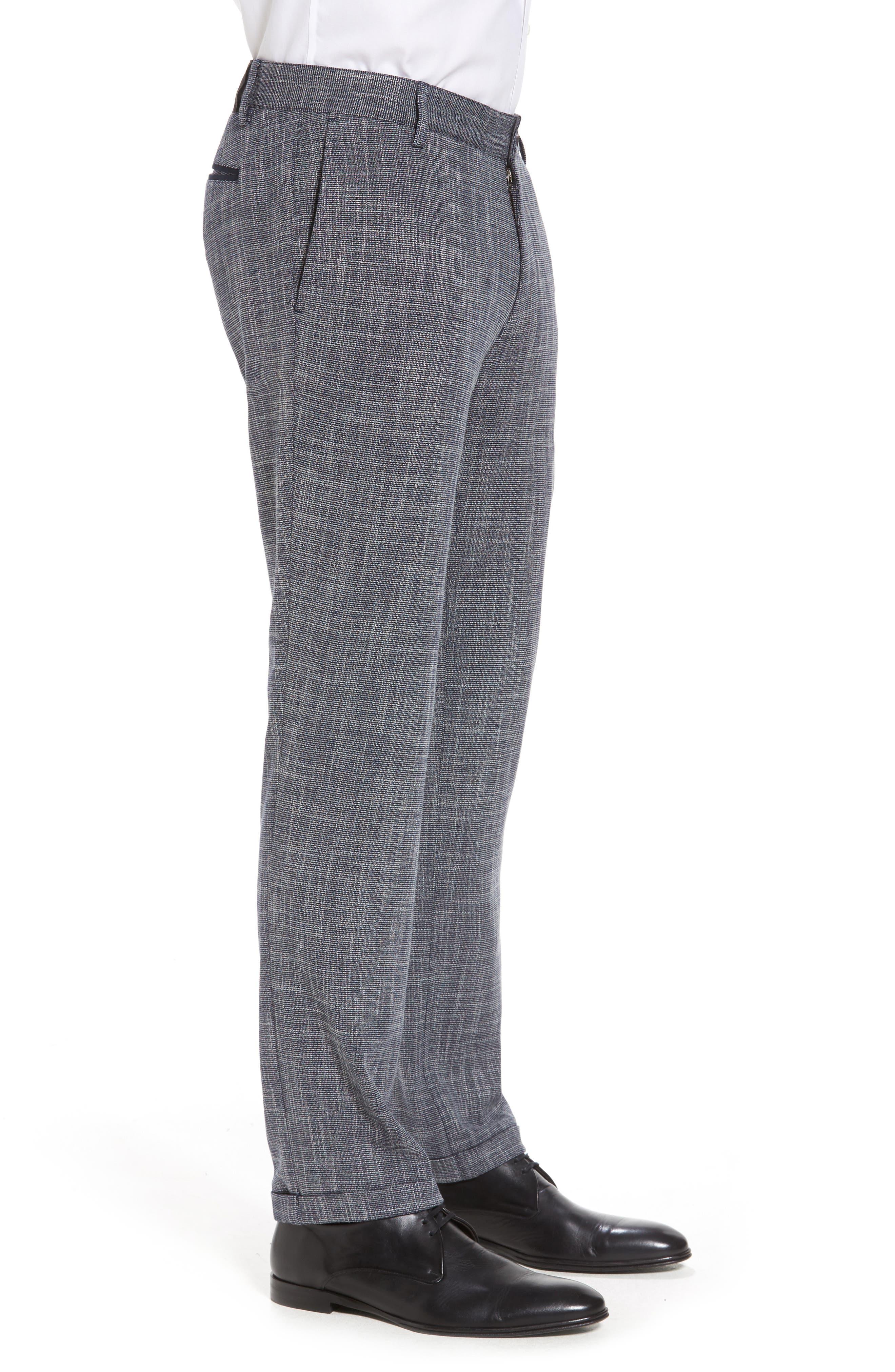 Slim Fit Cuffed Pants,                             Alternate thumbnail 4, color,                             410