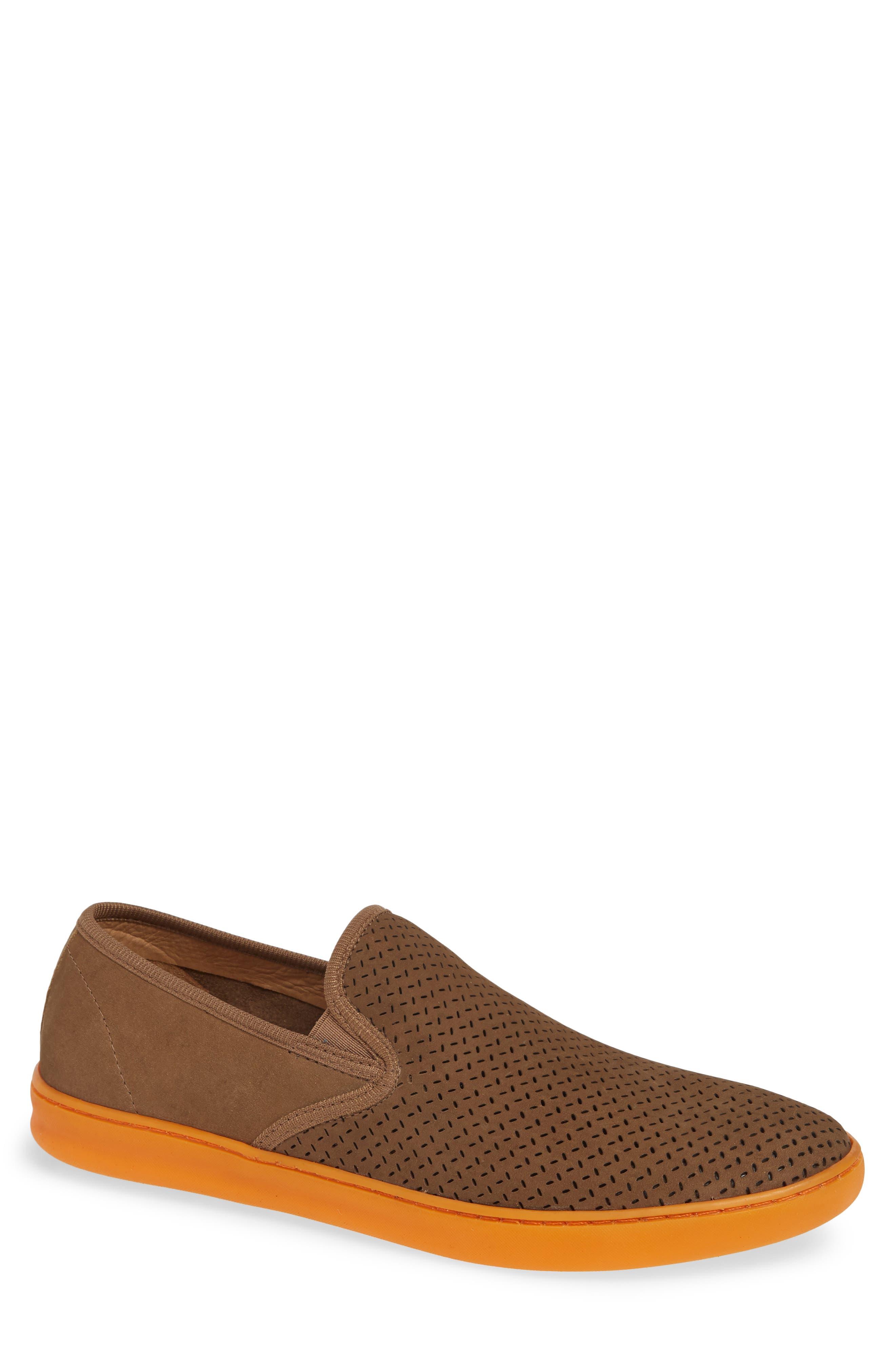 Malibu Perforated Loafer,                         Main,                         color, SAND NUBUCK