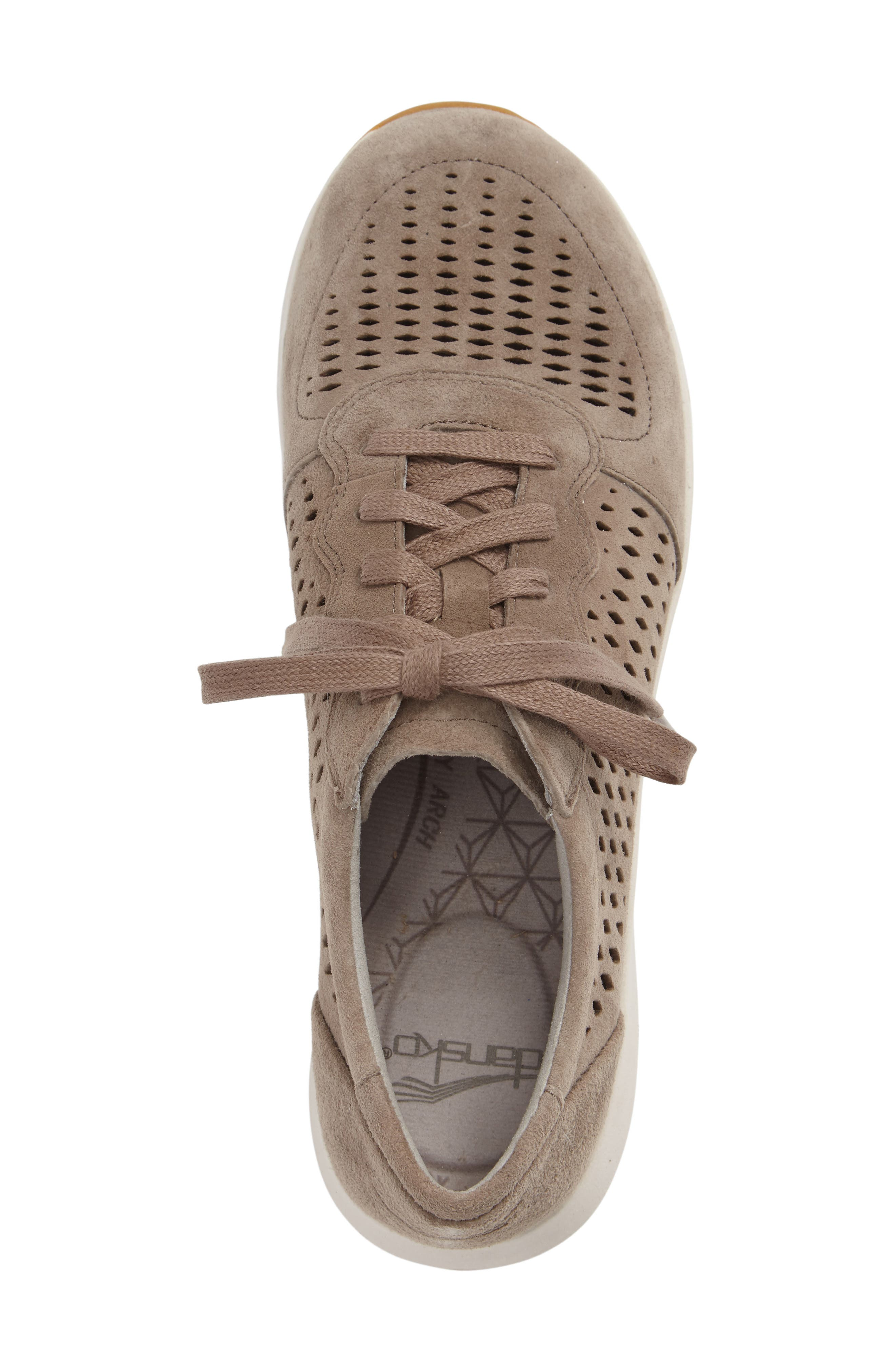 Charlie Perforated Sneaker,                             Alternate thumbnail 3, color,                             WALNUT SUEDE
