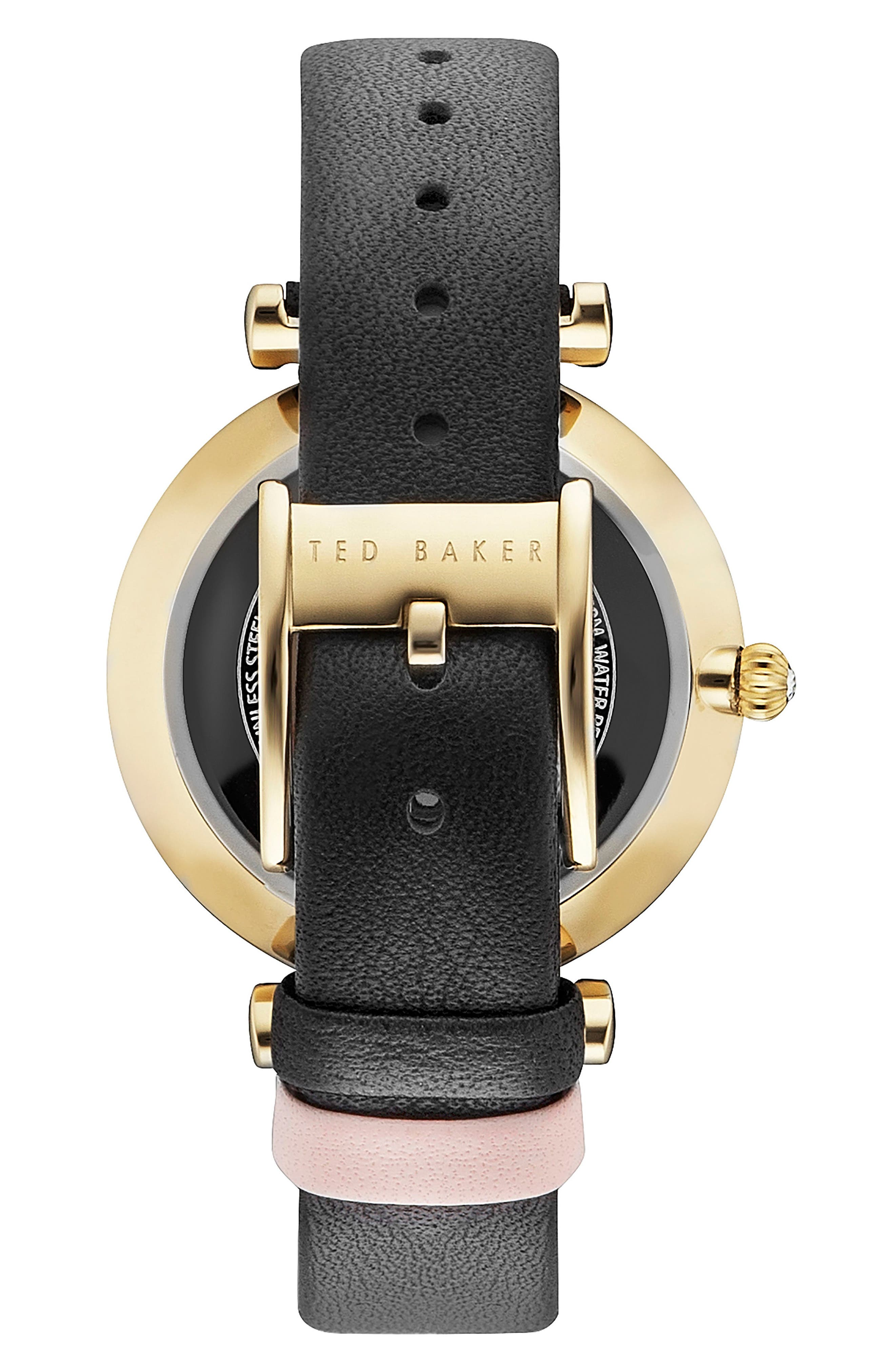 Ava Leather Strap Watch, 36mm,                             Alternate thumbnail 2, color,                             001
