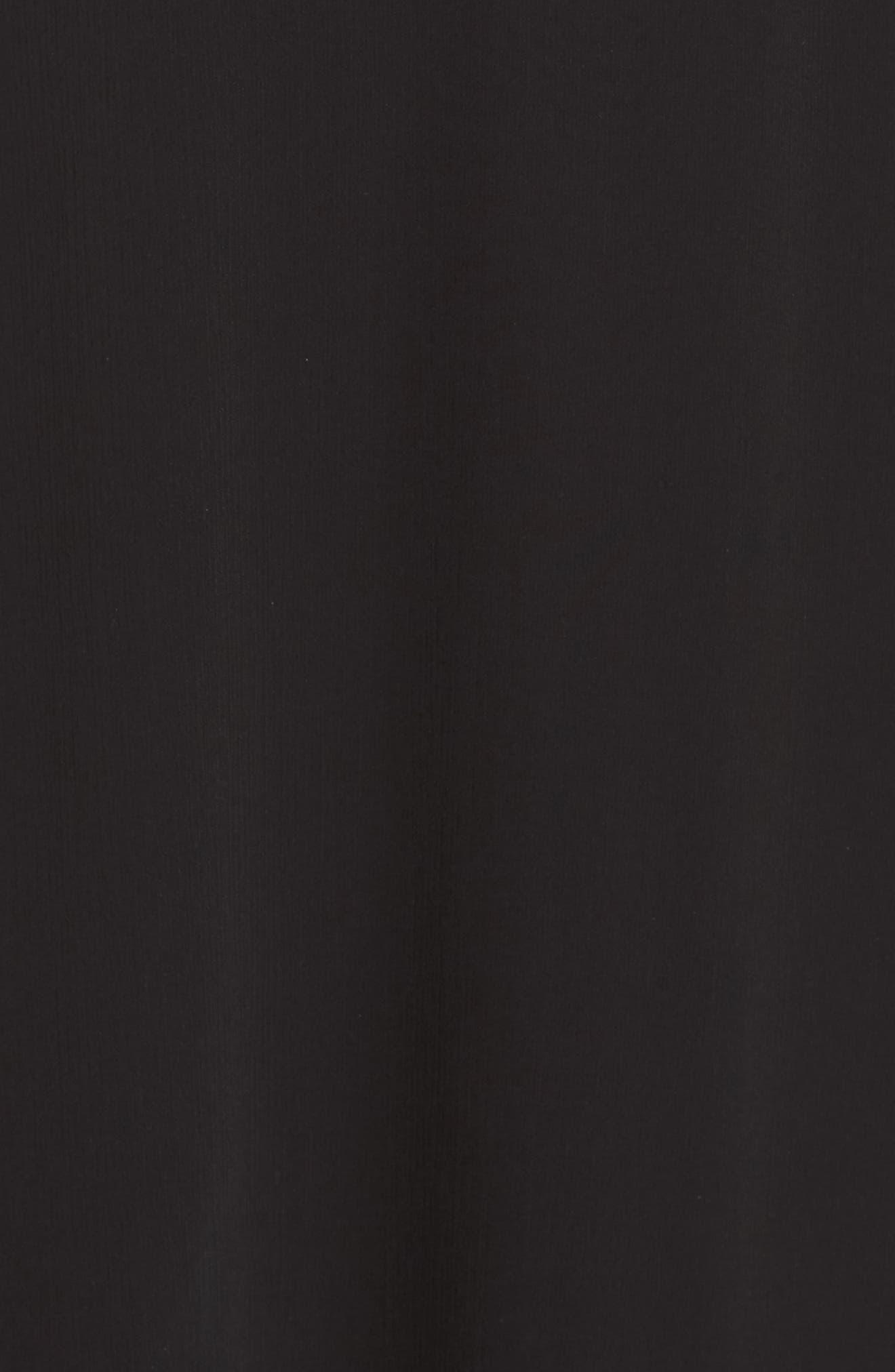 Donna Luxe Chiffon Surplice A-Line Gown,                             Alternate thumbnail 5, color,                             001