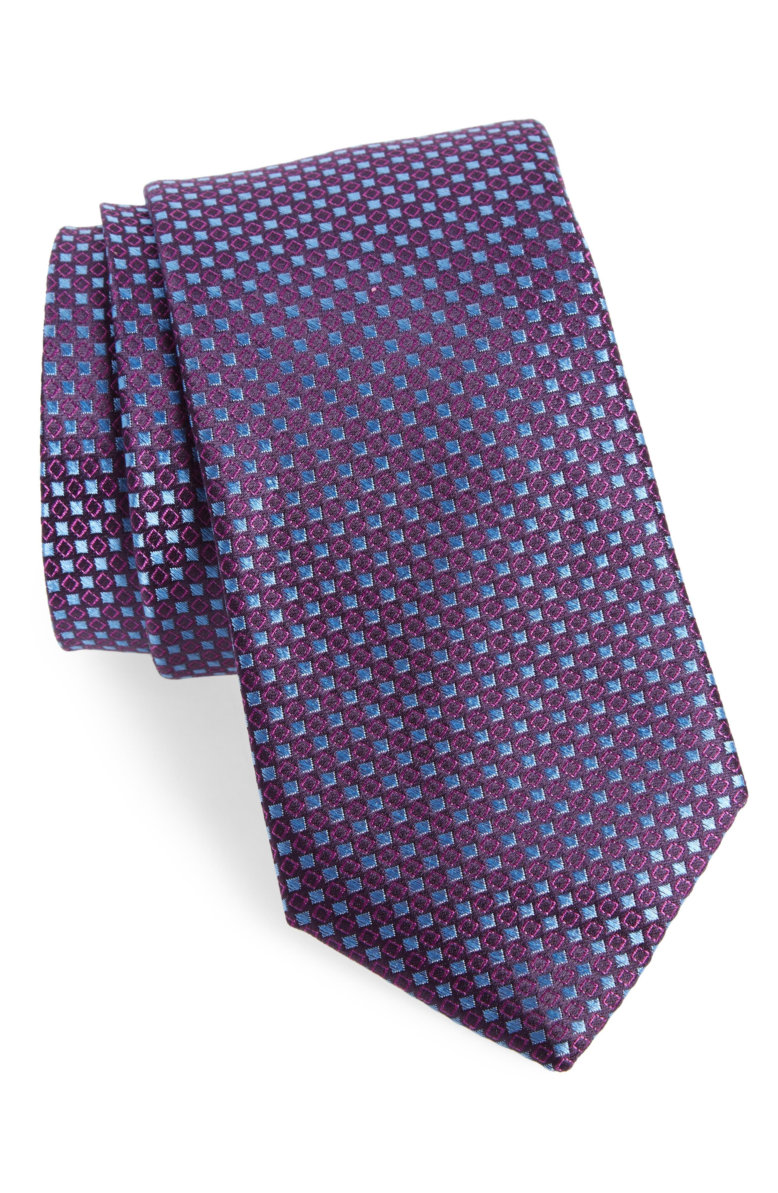 Chad Microdot Silk Tie,                             Main thumbnail 5, color,