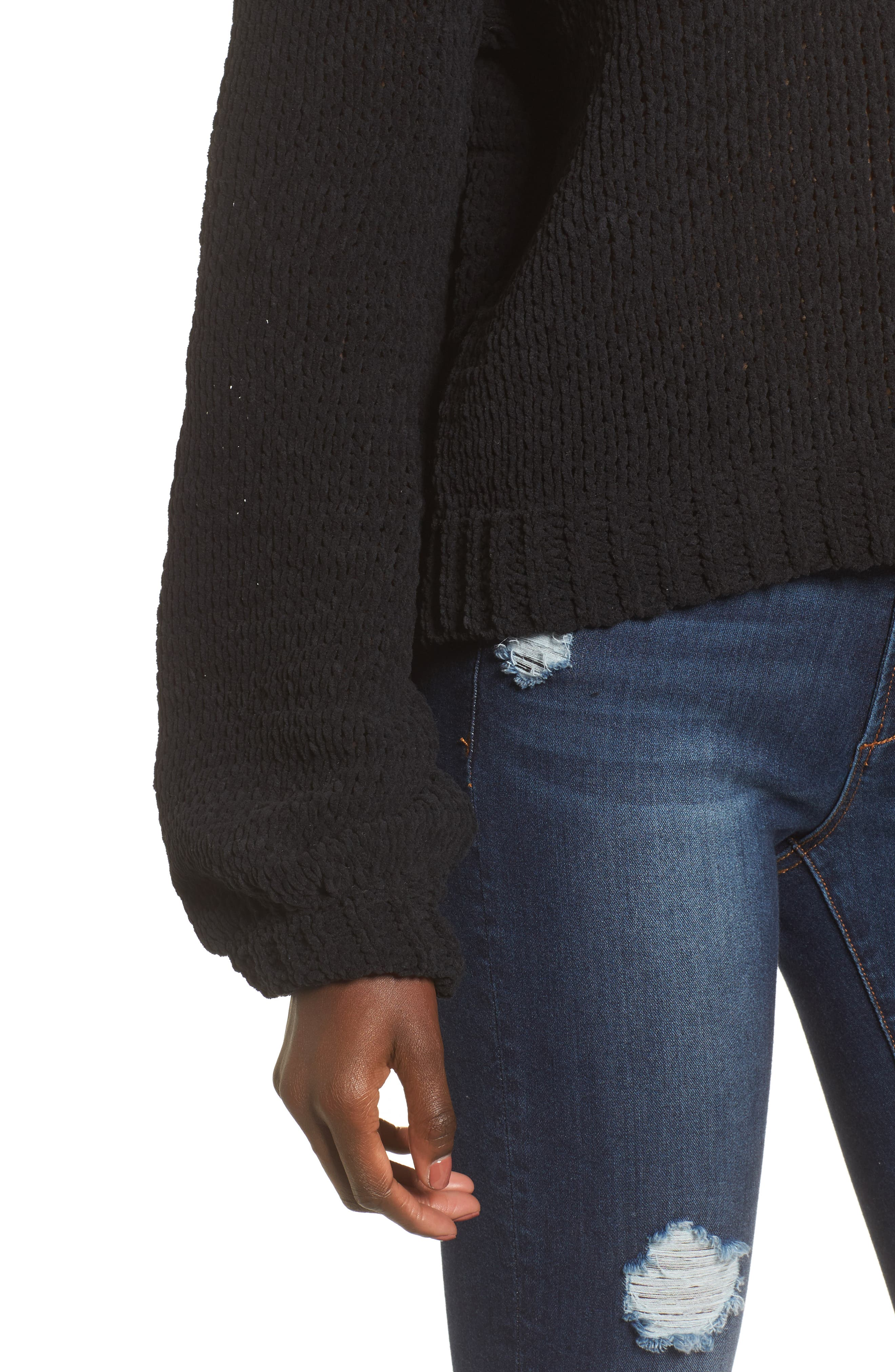 Strappy Sweater,                             Alternate thumbnail 5, color,                             001