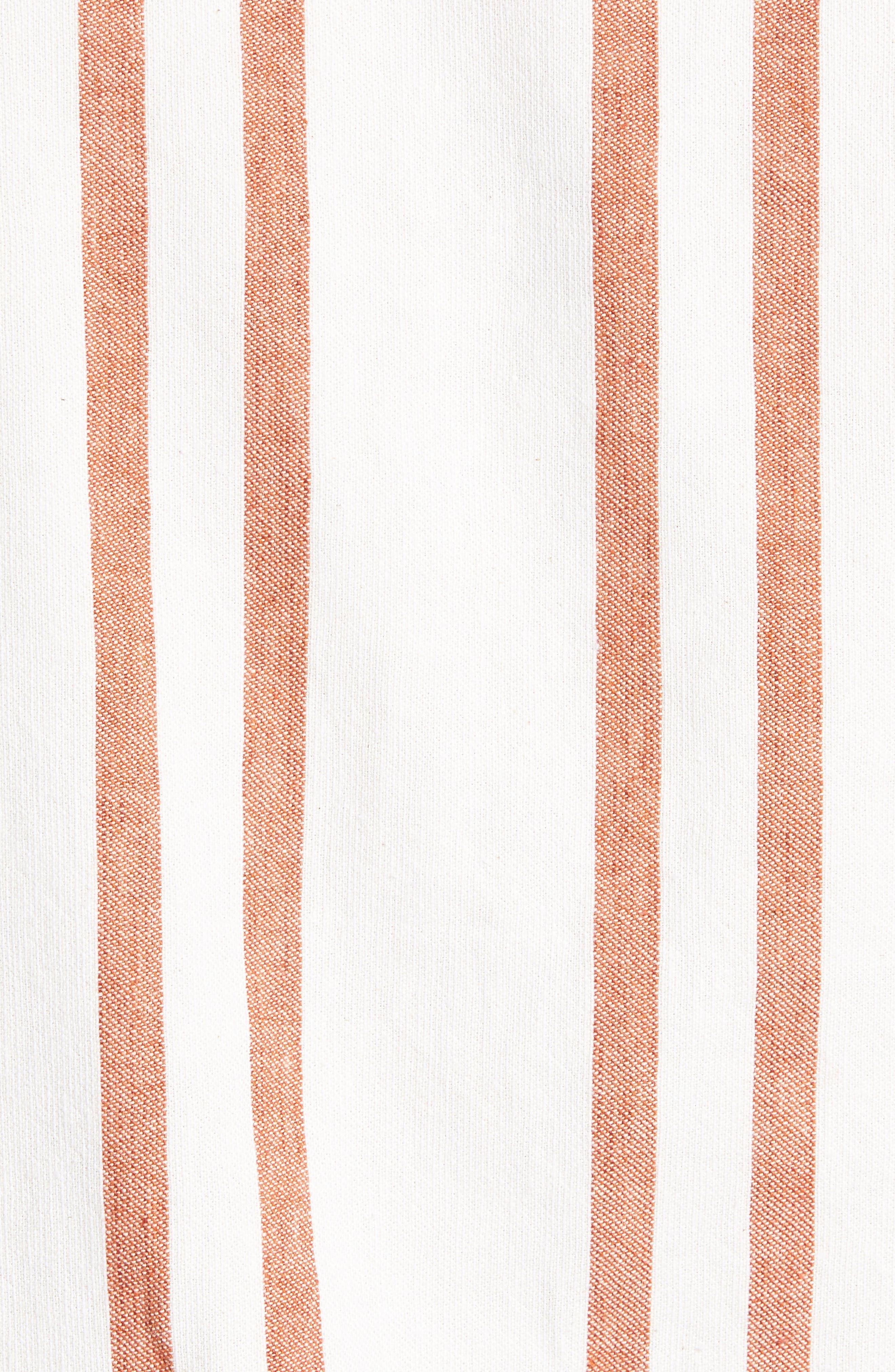 Dean Regular Fit Stripe Sport Shirt,                             Alternate thumbnail 5, color,                             ORANGE