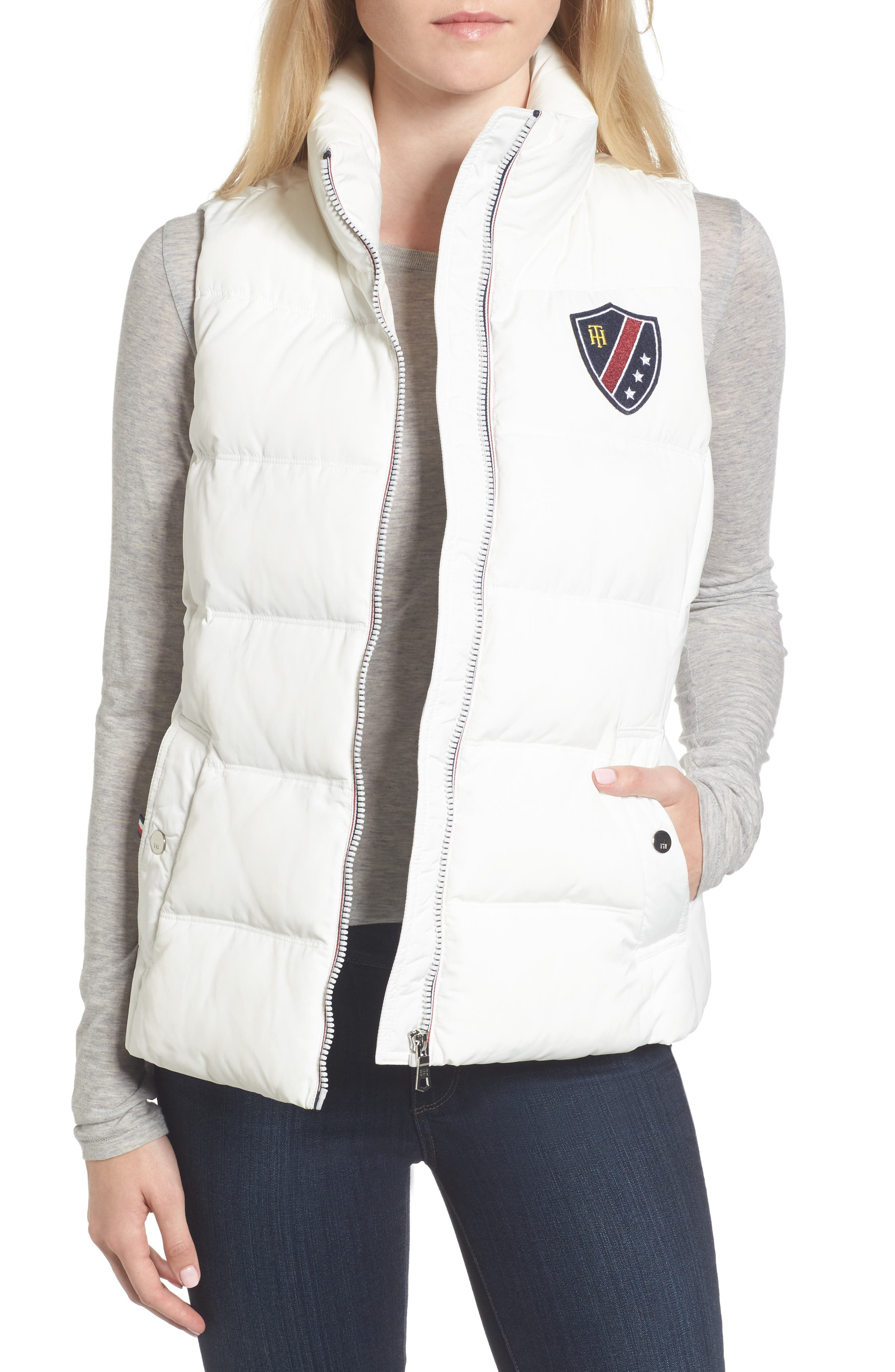 Quilted Puffer Vest,                             Main thumbnail 1, color,                             100