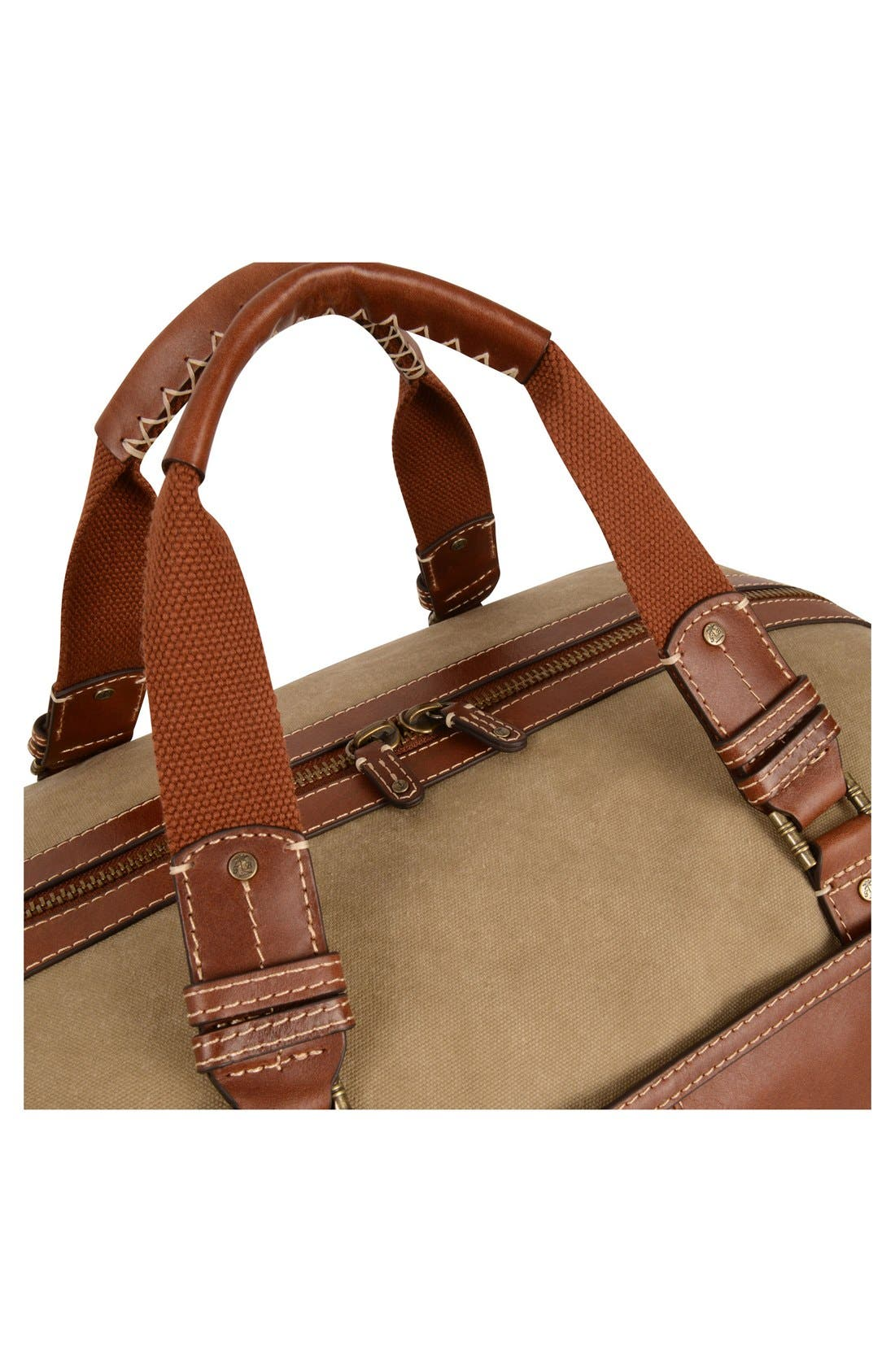 Canvas & Leather Duffel Bag,                             Alternate thumbnail 5, color,                             210