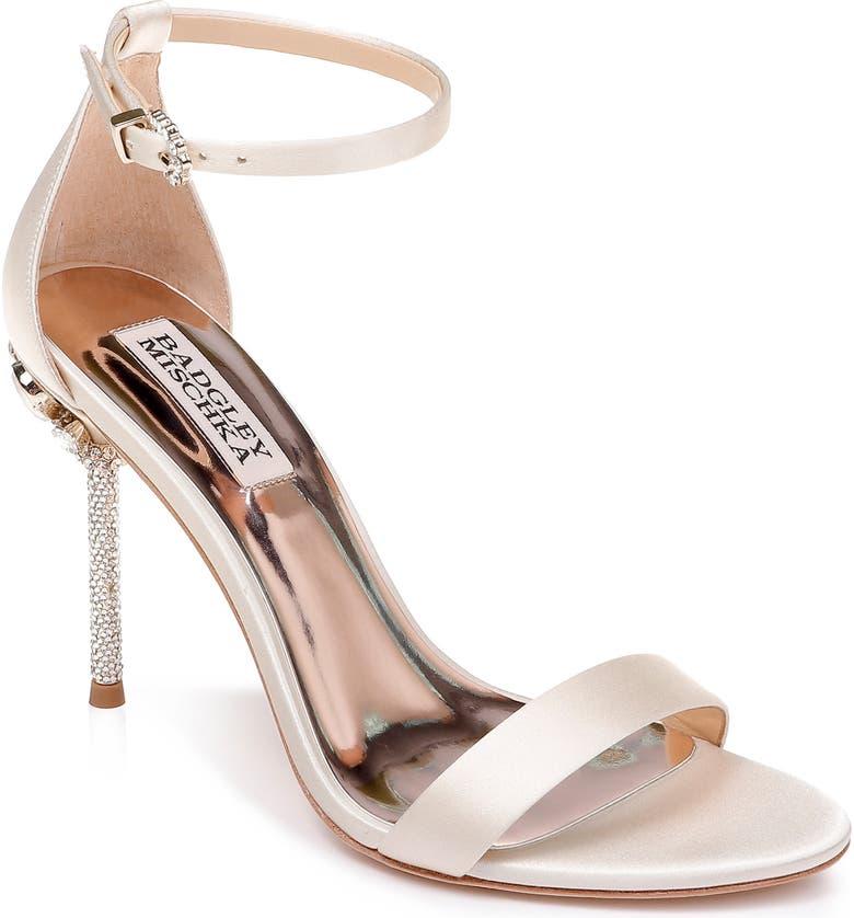 ee1f43776305 Badgley Mischka Women s Vicia Embellished Satin High-Heel Sandals In ...