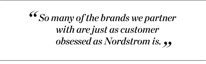 """""""So many of the brands we partner with are just as customer obsessed as Nordstrom is."""" —Aleks Arteaga"""