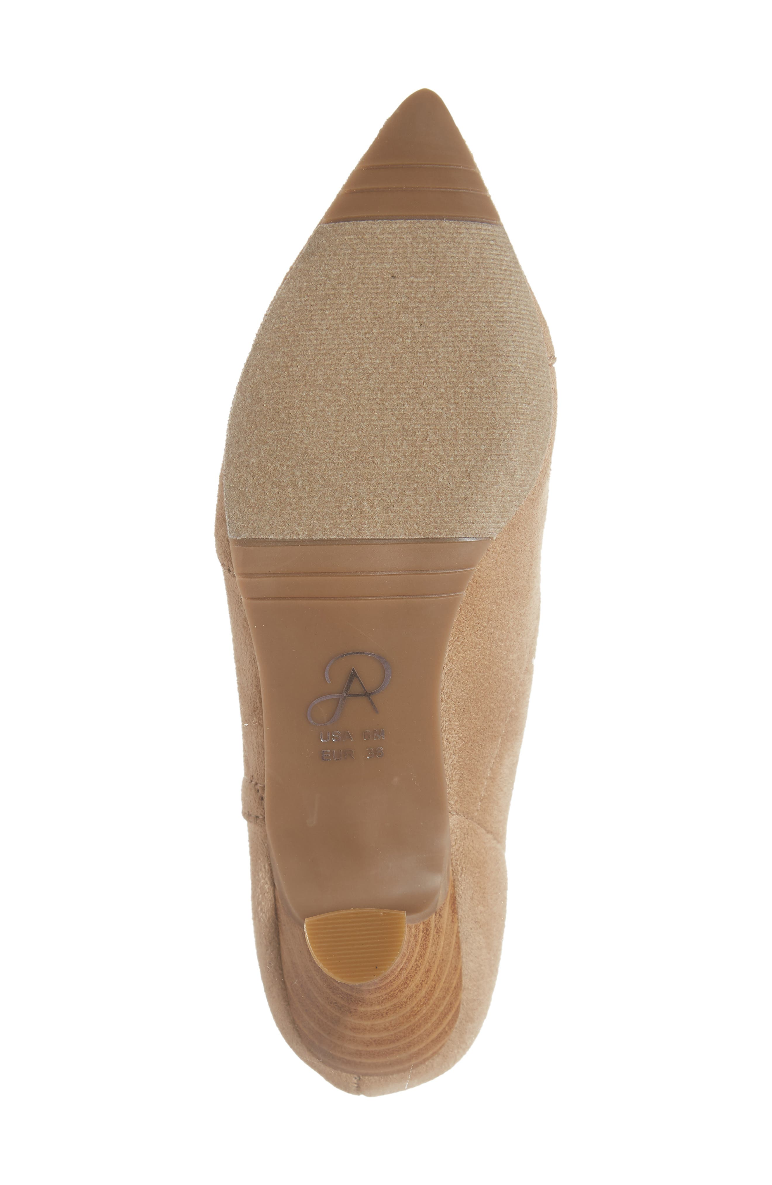Hayes Pointy Toe Bootie,                             Alternate thumbnail 6, color,                             OAT SUEDE
