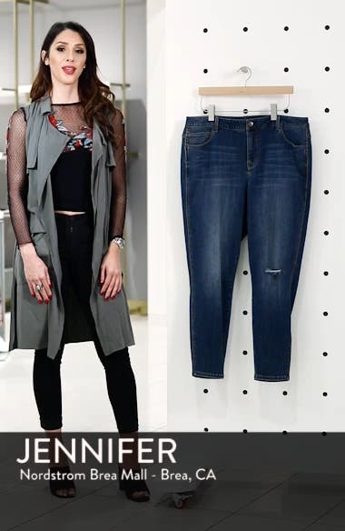 252706a77af 1822 Denim Ripped High Waist Skinny Jeans (Radiohead) (Plus Size ...