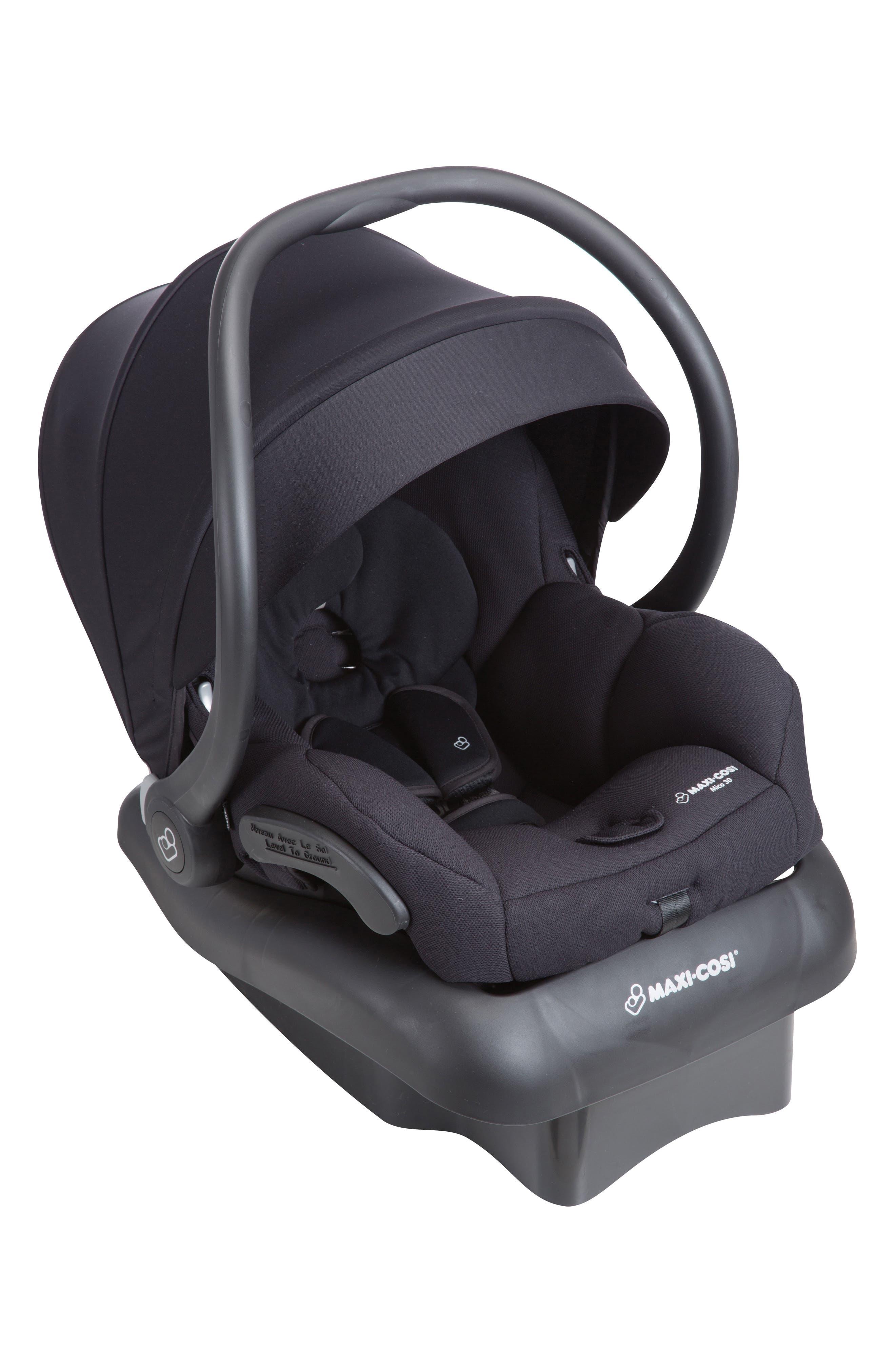 Mico 30 Infant Car Seat,                             Alternate thumbnail 4, color,                             NIGHT BLACK
