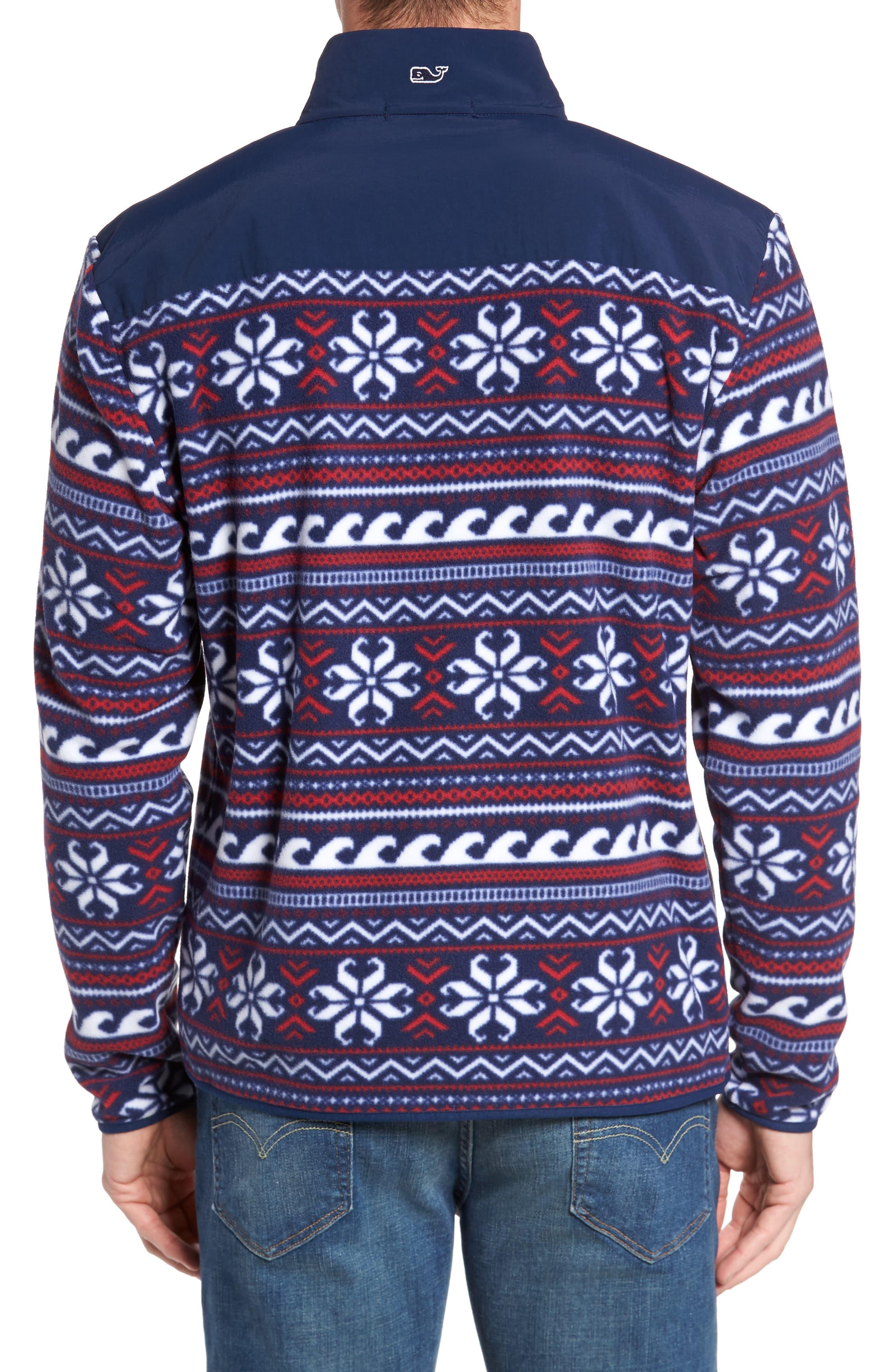 Fair Isle Quarter Snap Fleece Pullover,                             Alternate thumbnail 2, color,