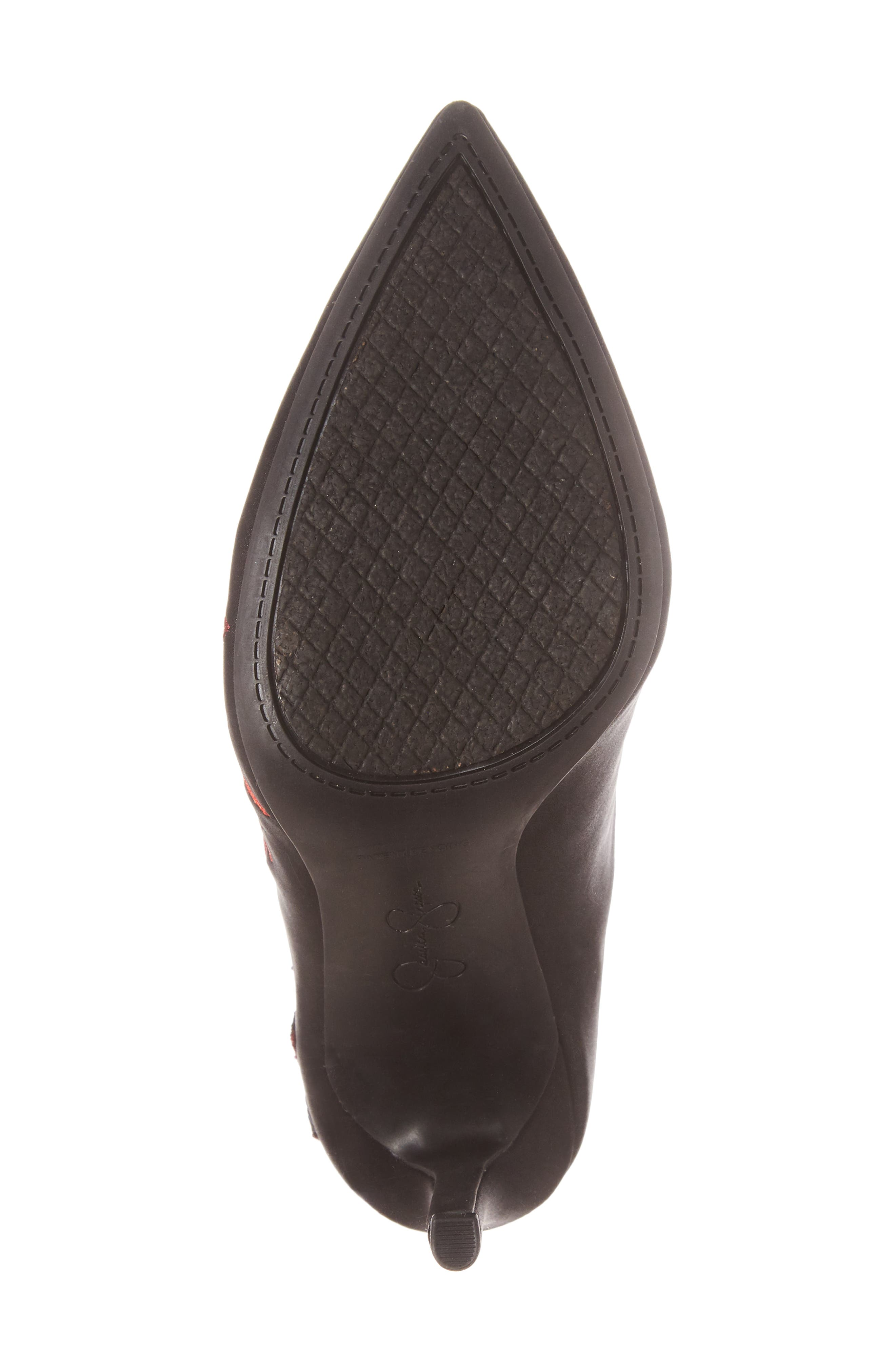 Pelanna Appliqué Stretch Bootie,                             Alternate thumbnail 6, color,                             001