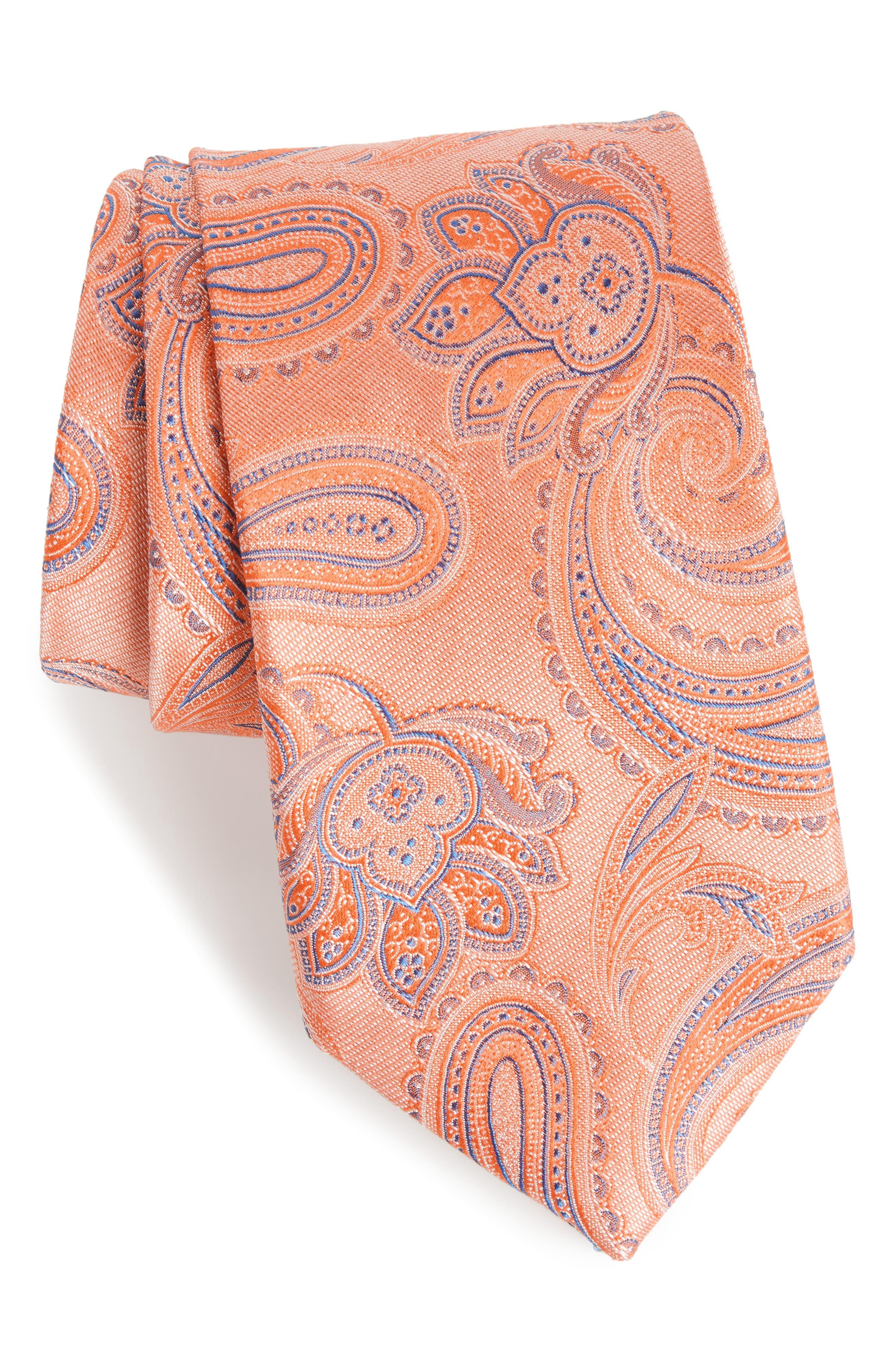 Barga Paisley Silk Tie,                             Main thumbnail 5, color,