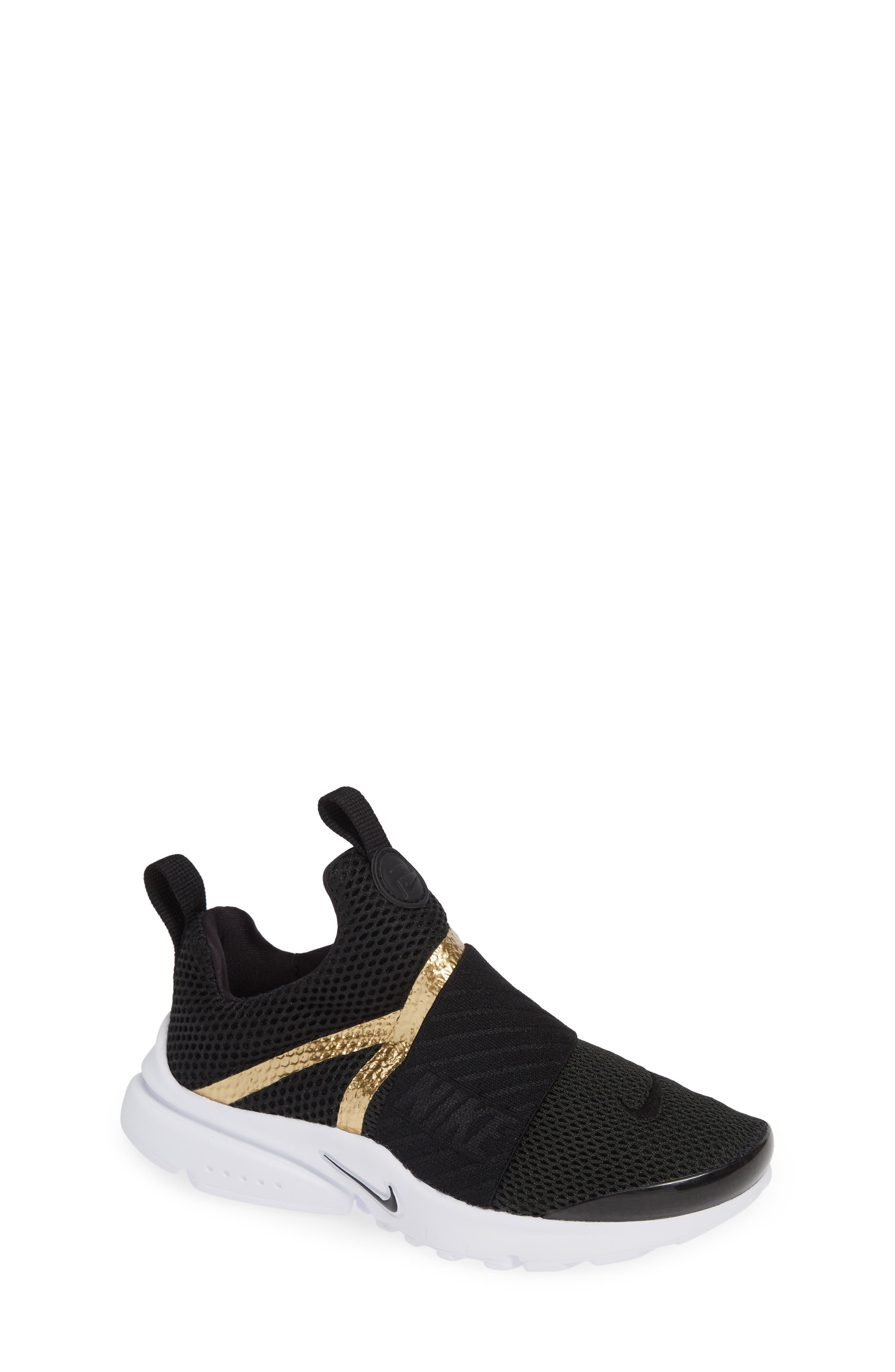 Presto Extreme Sneaker,                             Main thumbnail 1, color,                             BLACK/ METALLIC GOLD/ WHITE