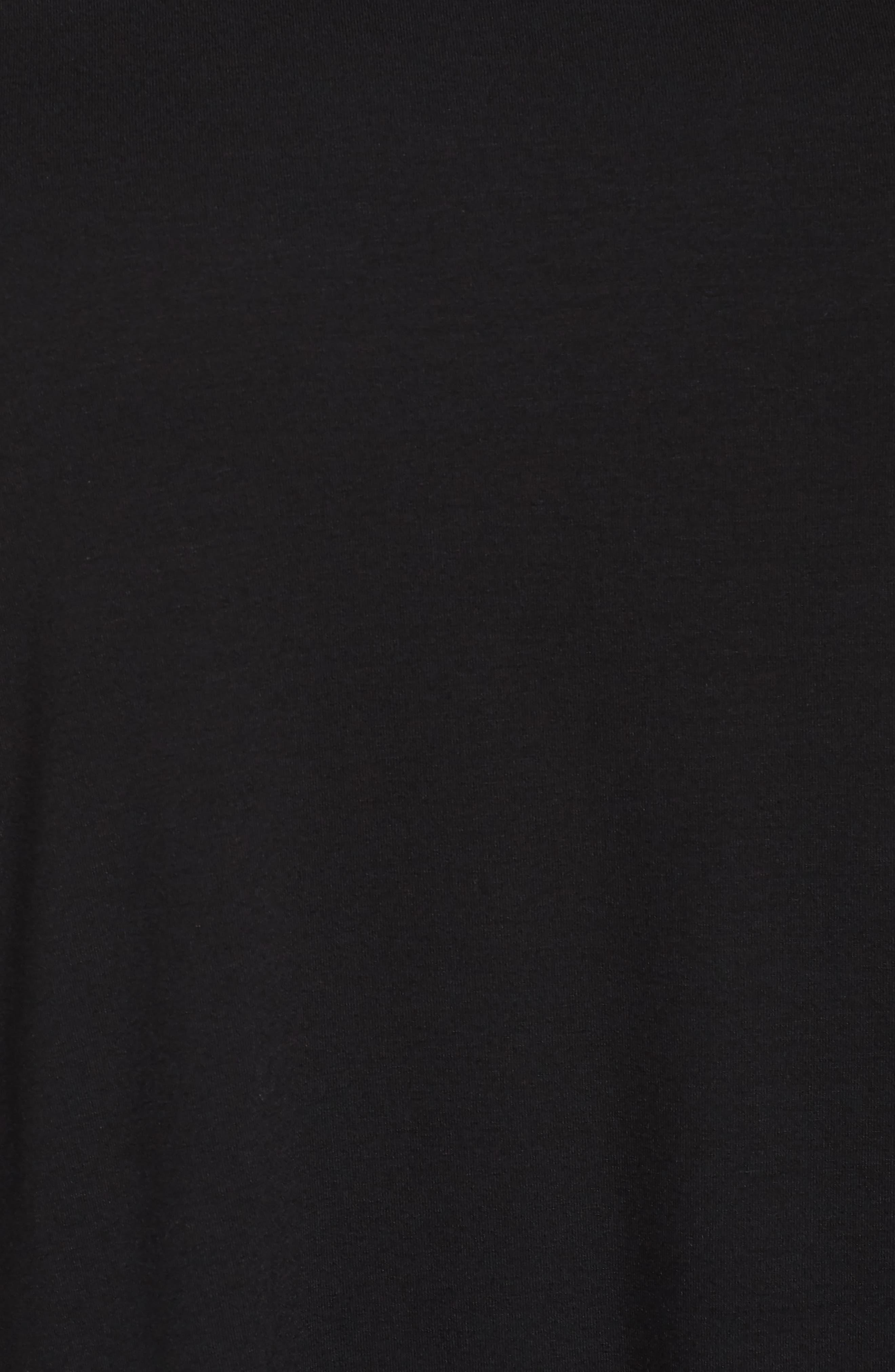 Jersey Shift Dress,                             Alternate thumbnail 5, color,                             001