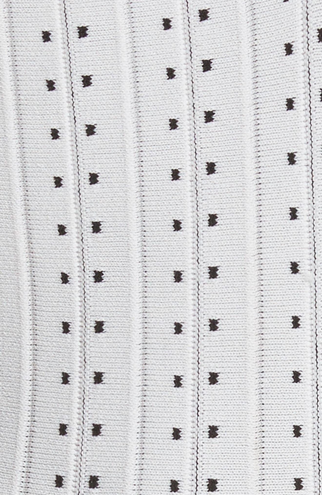 Dot Pleat Fit & Flare Dress,                             Alternate thumbnail 5, color,                             110