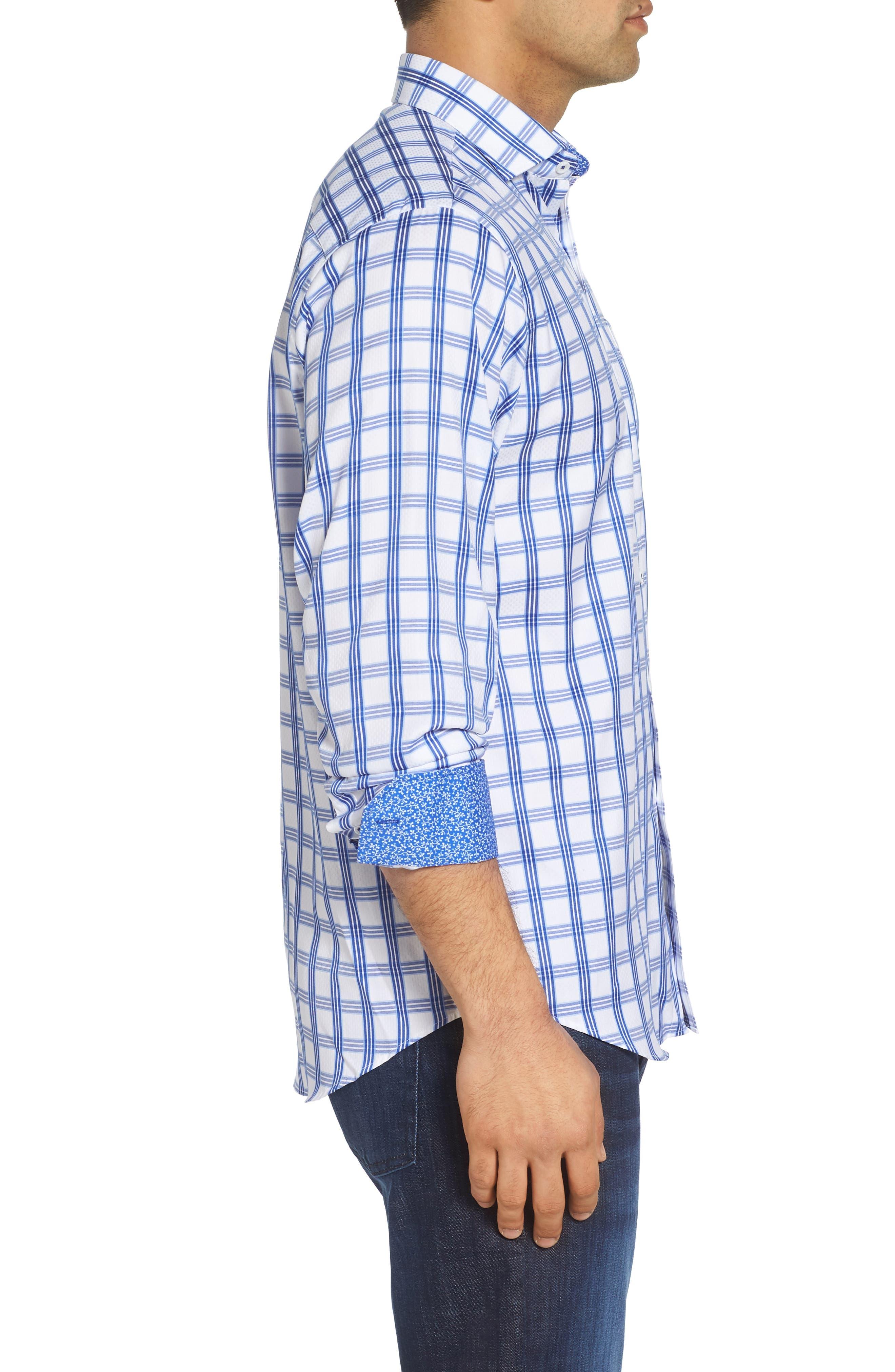 Classic Fit Sport Shirt,                             Alternate thumbnail 3, color,                             CLASSIC BLUE