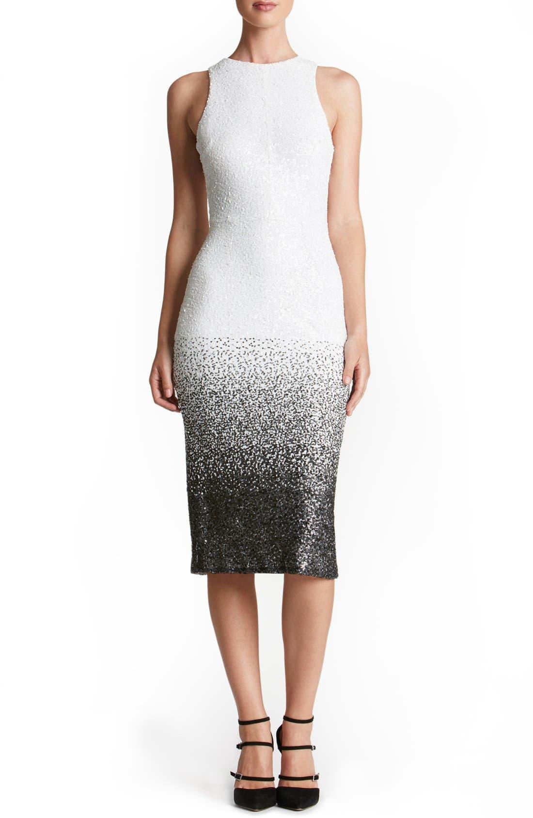 Shawn Sequin Midi Dress,                         Main,                         color, 121