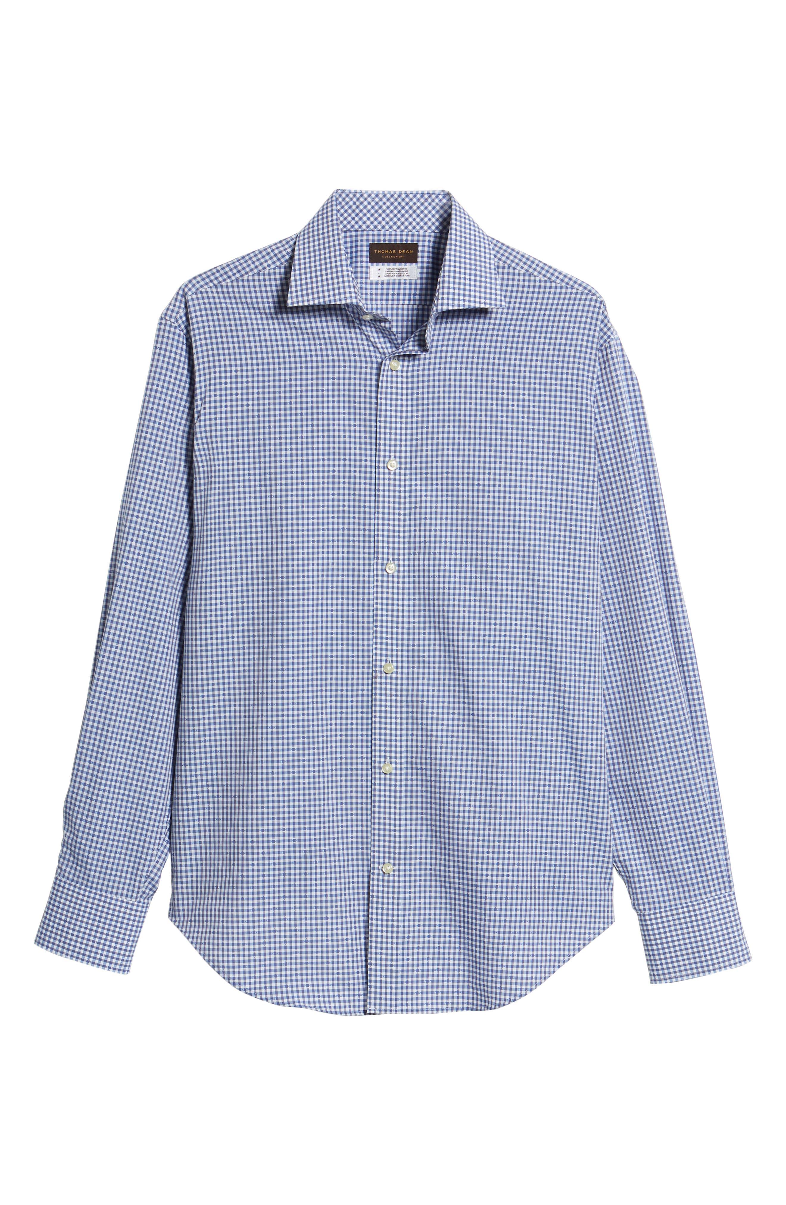 Mini Check Sport Shirt,                             Alternate thumbnail 6, color,                             400
