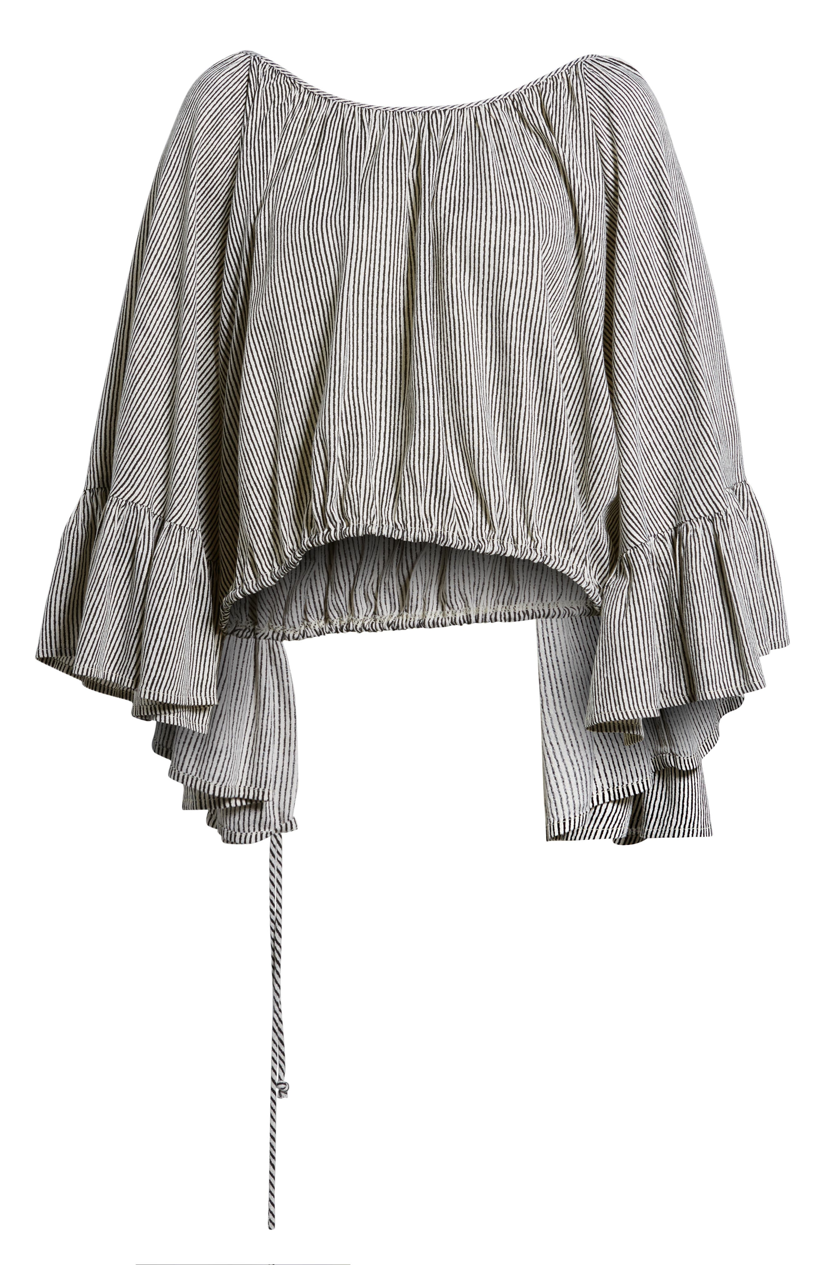 More Love Ruffle Sleeve Top,                             Alternate thumbnail 6, color,                             900