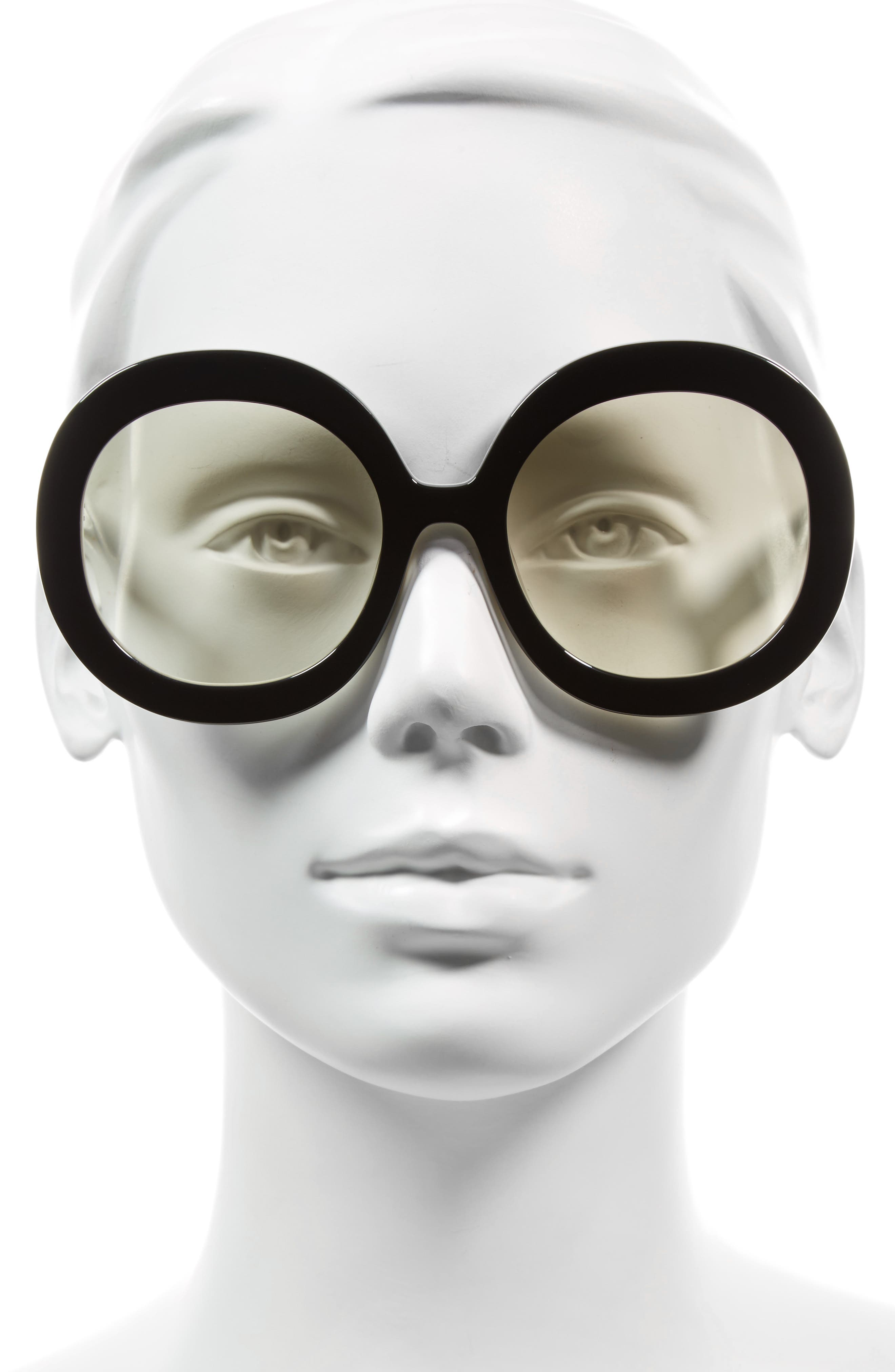 Melrose 56mm Round Sunglasses,                             Alternate thumbnail 2, color,                             001
