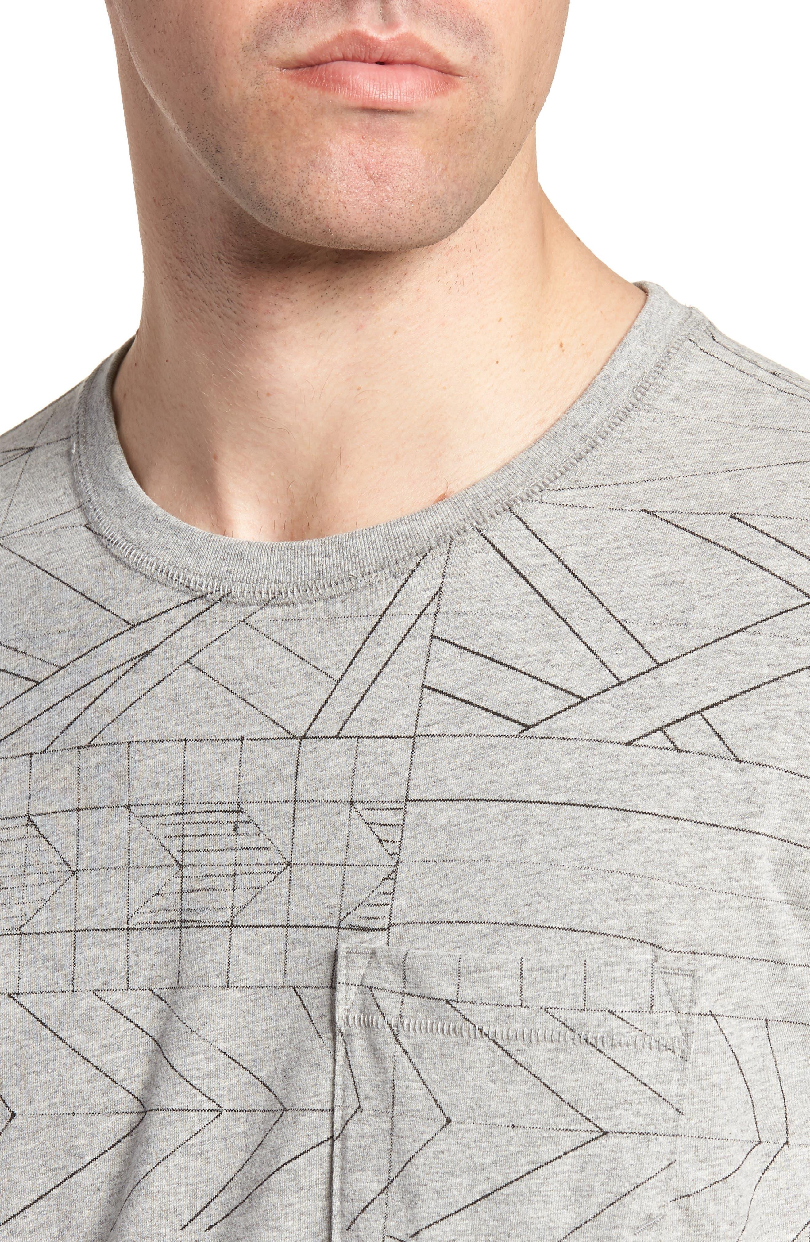 Fracture Line Crewneck T-Shirt,                             Alternate thumbnail 4, color,                             FRACTURE LINE