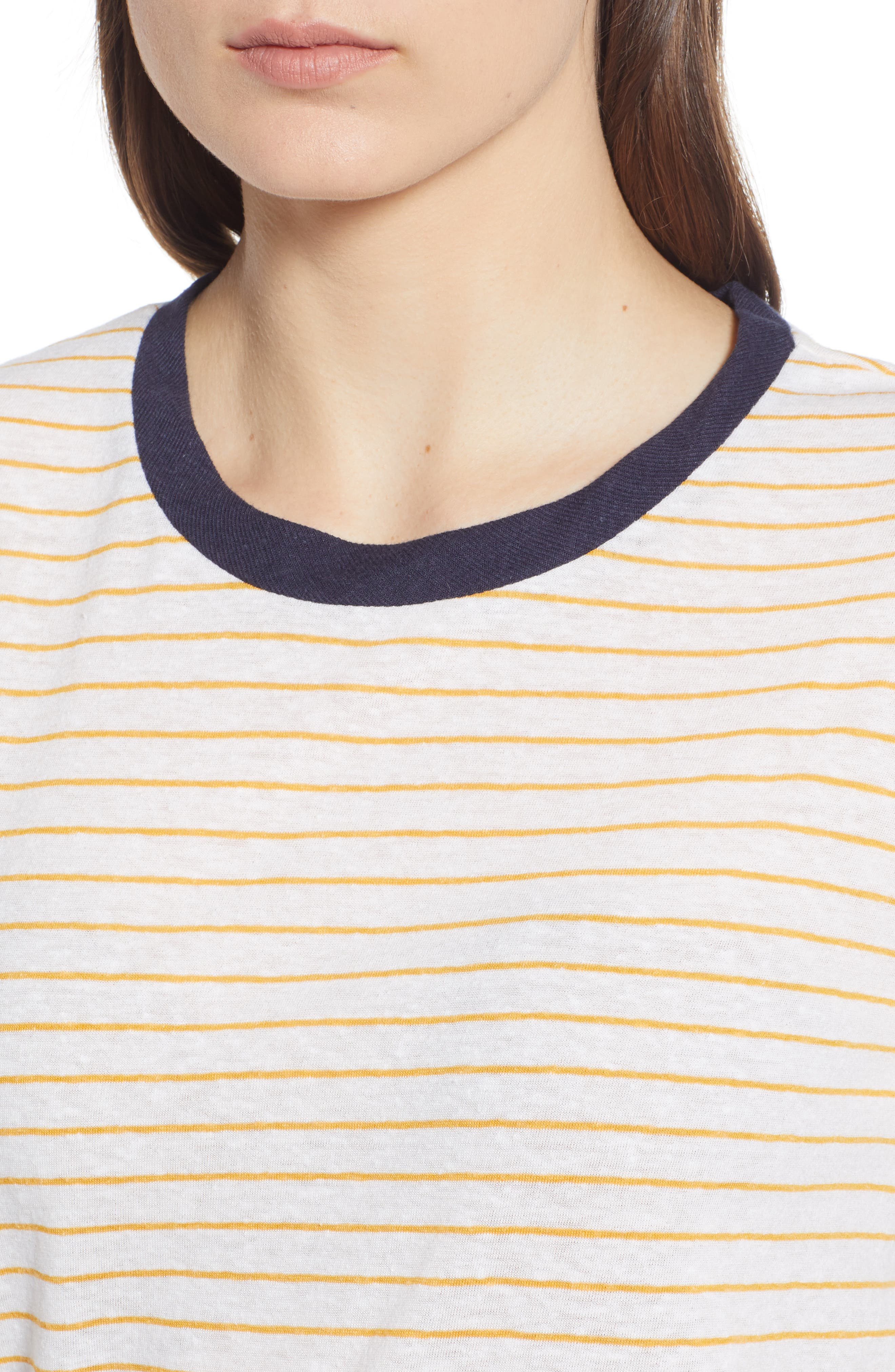 Stripe Ringer Tee,                             Alternate thumbnail 4, color,