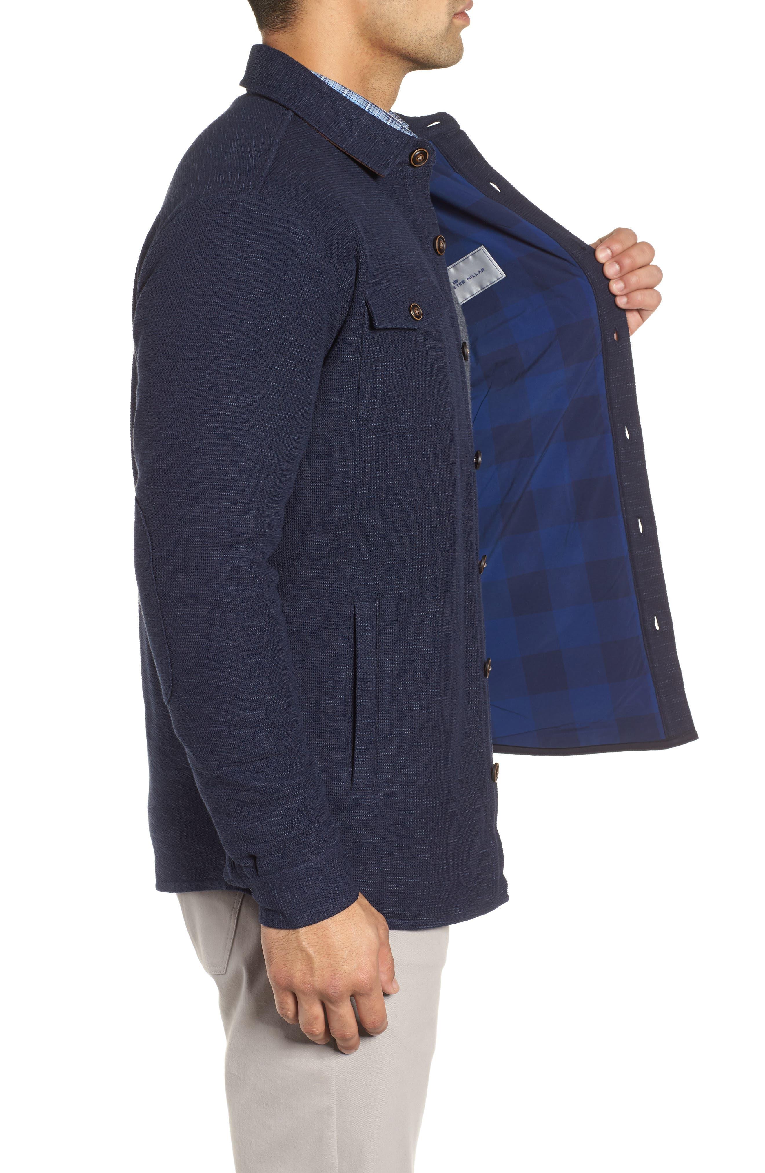 PETER MILLAR,                             Mountainside Shirt Jacket,                             Alternate thumbnail 3, color,                             ATLANTIC BLUE