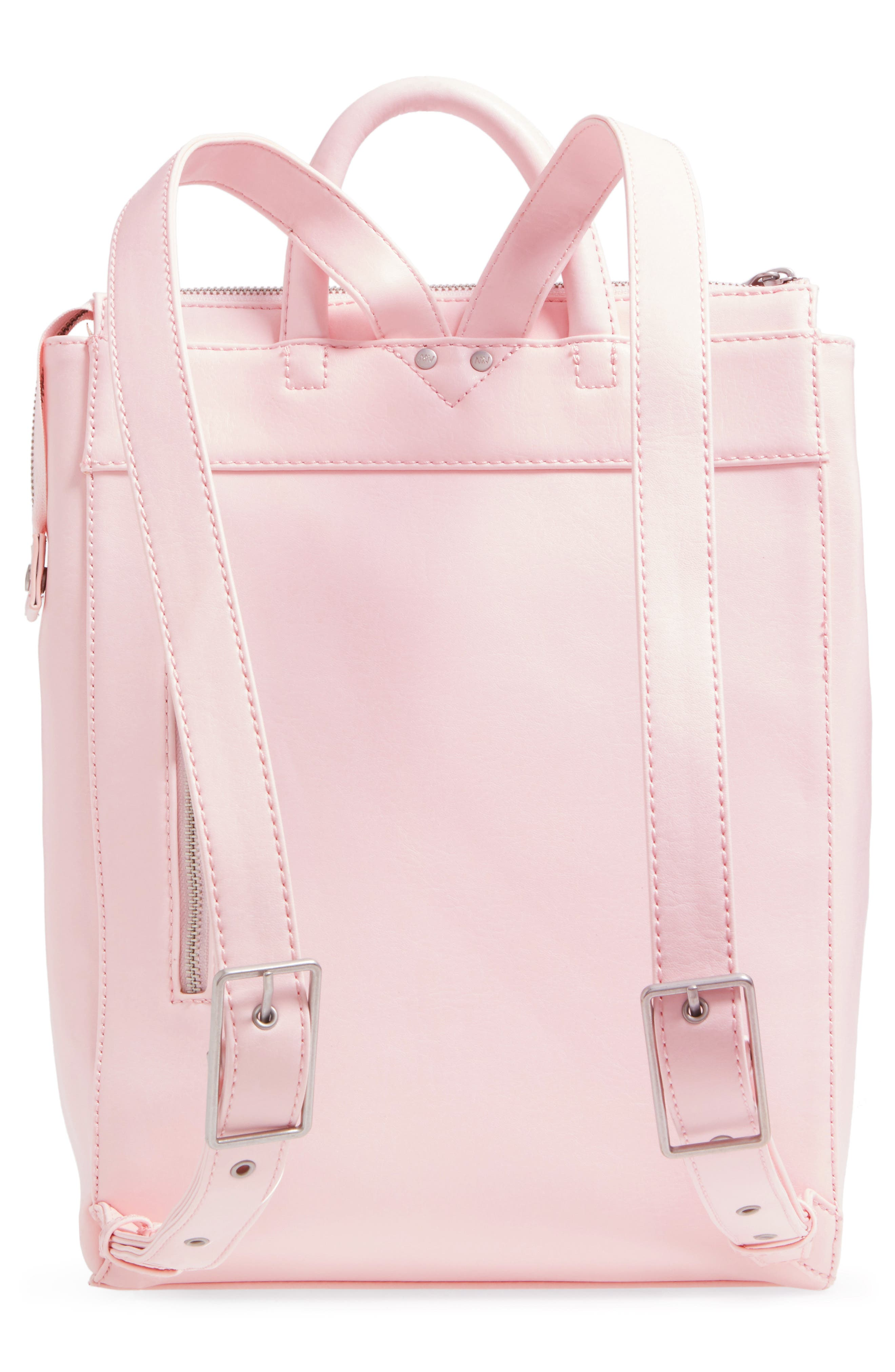 'Katherine' Faux Leather Backpack,                             Alternate thumbnail 21, color,