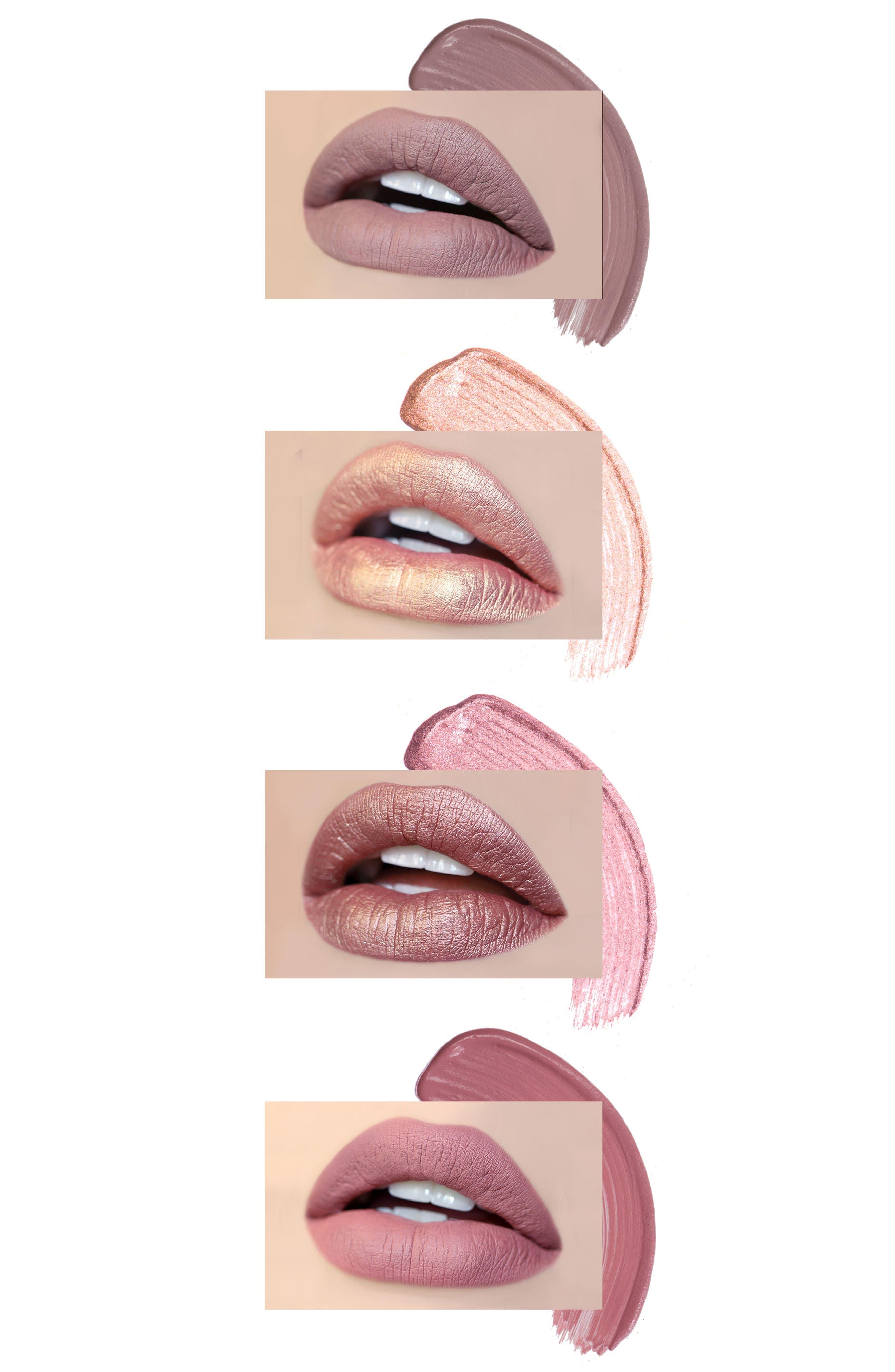 Best of Nudes Mini Long-Wear Lip Crème Liquid Lipstick Collection,                             Alternate thumbnail 4, color,                             000