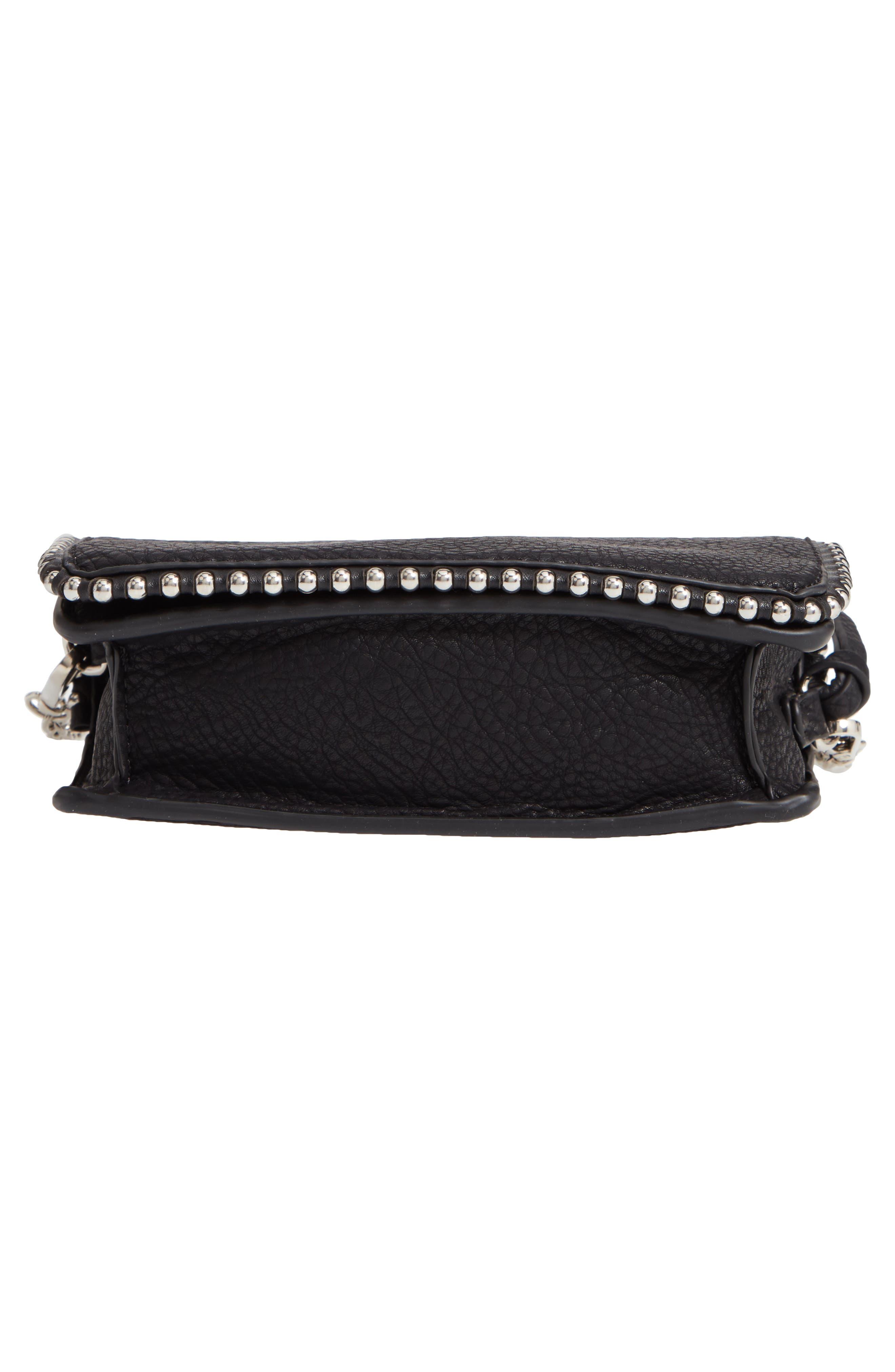 Eytal Studded Faux Leather Crossbody,                             Alternate thumbnail 6, color,                             001