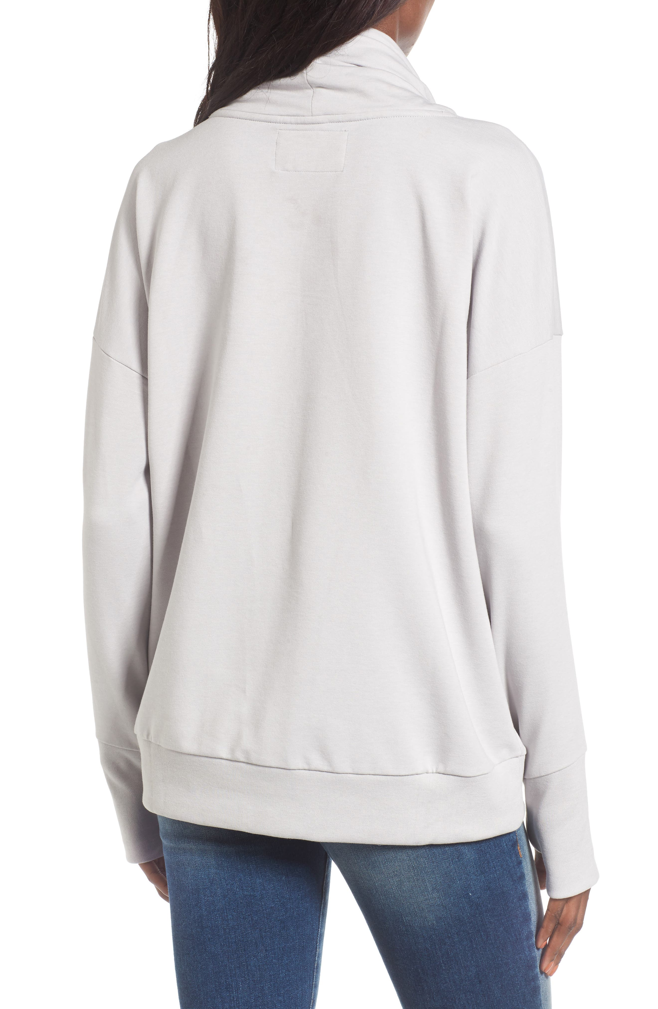 New England Patriots Funnel Neck Pullover,                             Alternate thumbnail 2, color,                             020
