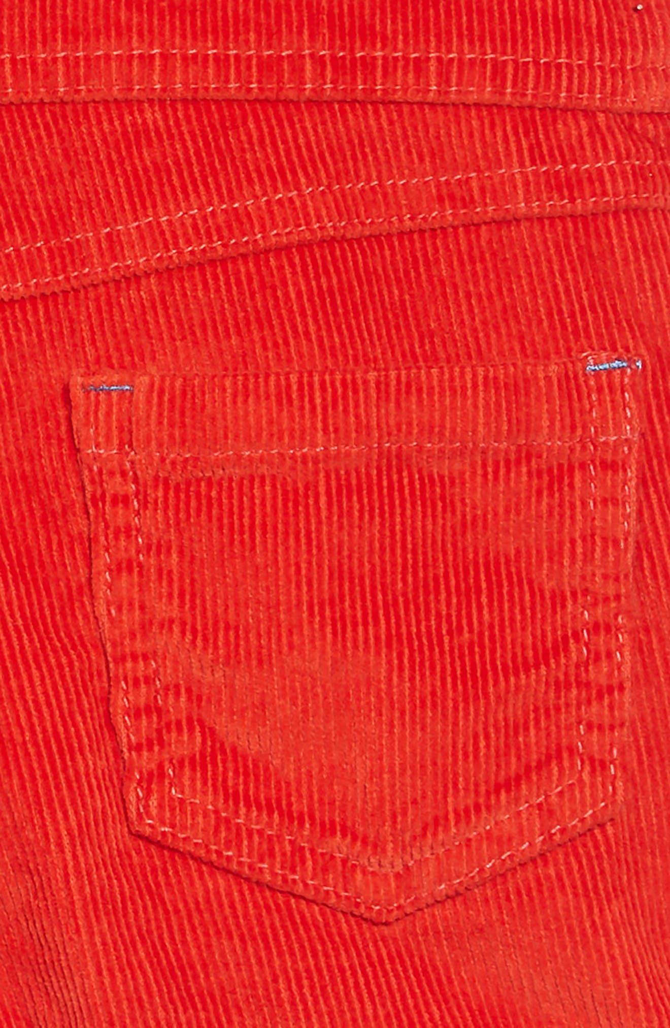 Dungarees Short Overalls,                             Alternate thumbnail 3, color,                             RED POPPY RED