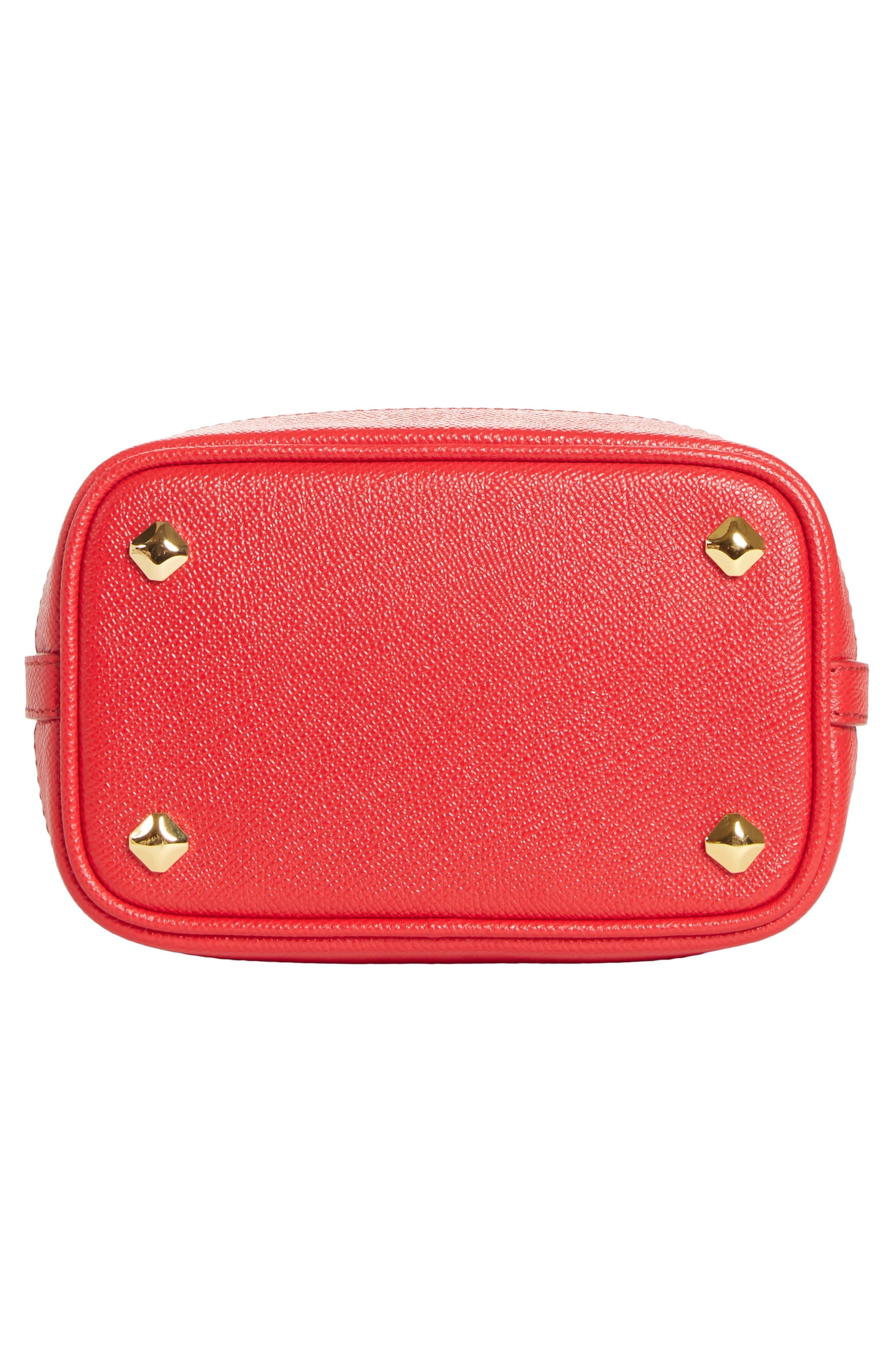 Mini RGB Drawstring Crossbody Bag,                             Alternate thumbnail 6, color,                             RED