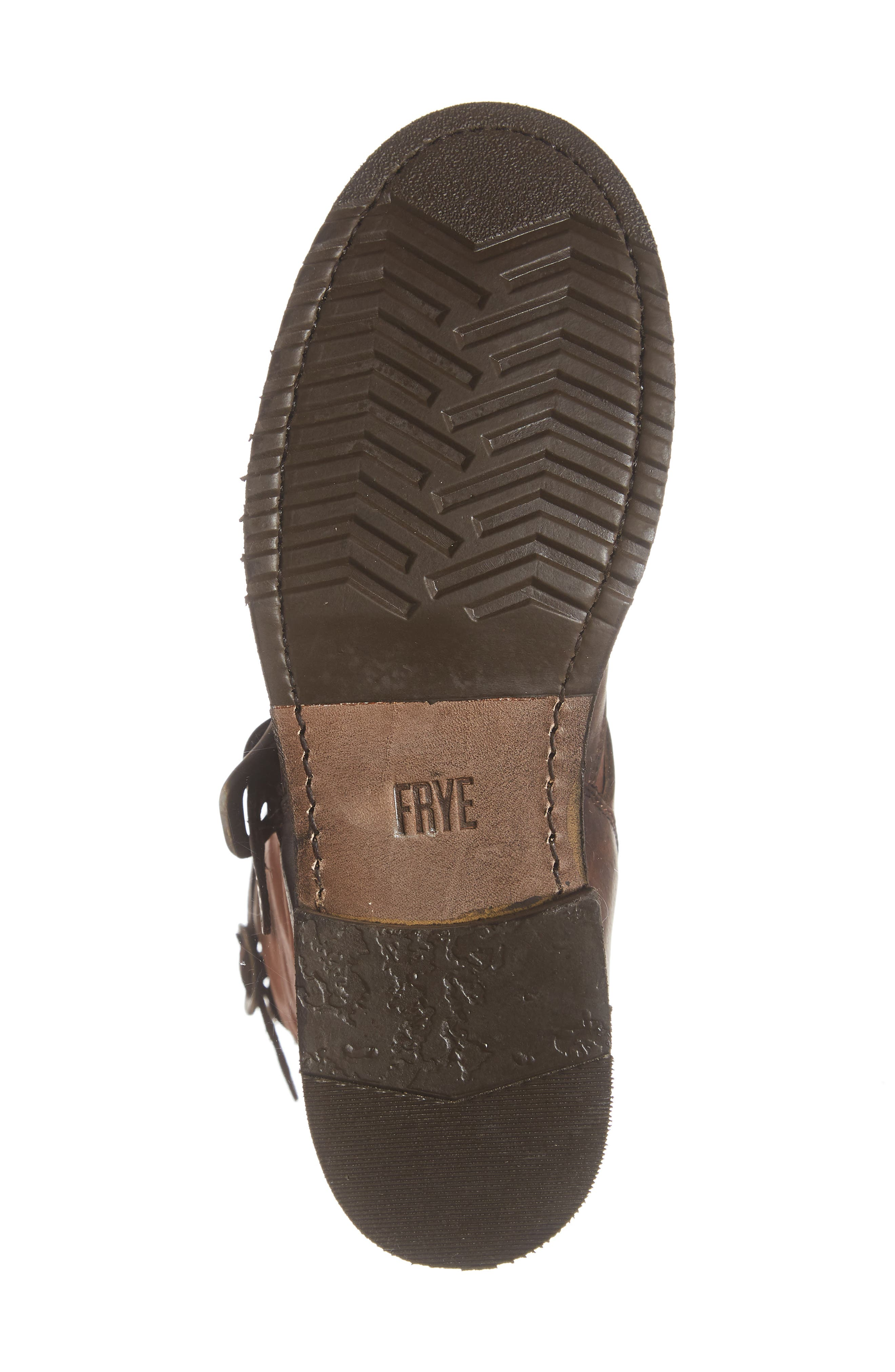 'Veronica' Short Boot,                             Alternate thumbnail 6, color,                             REDWOOD LEATHER